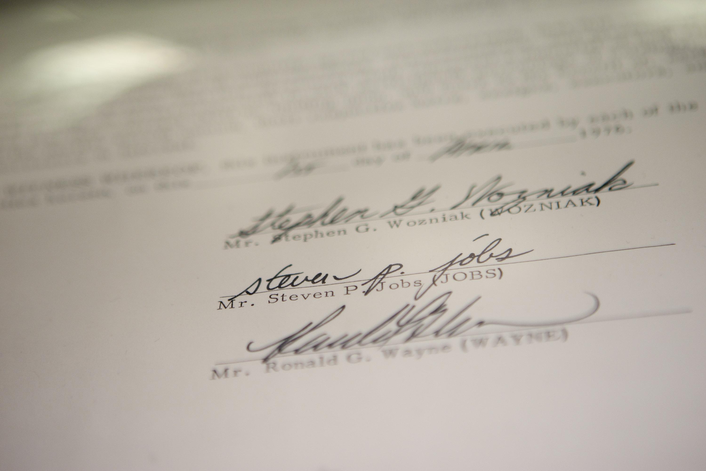 Apple Inc. Founding Partnership Agreement