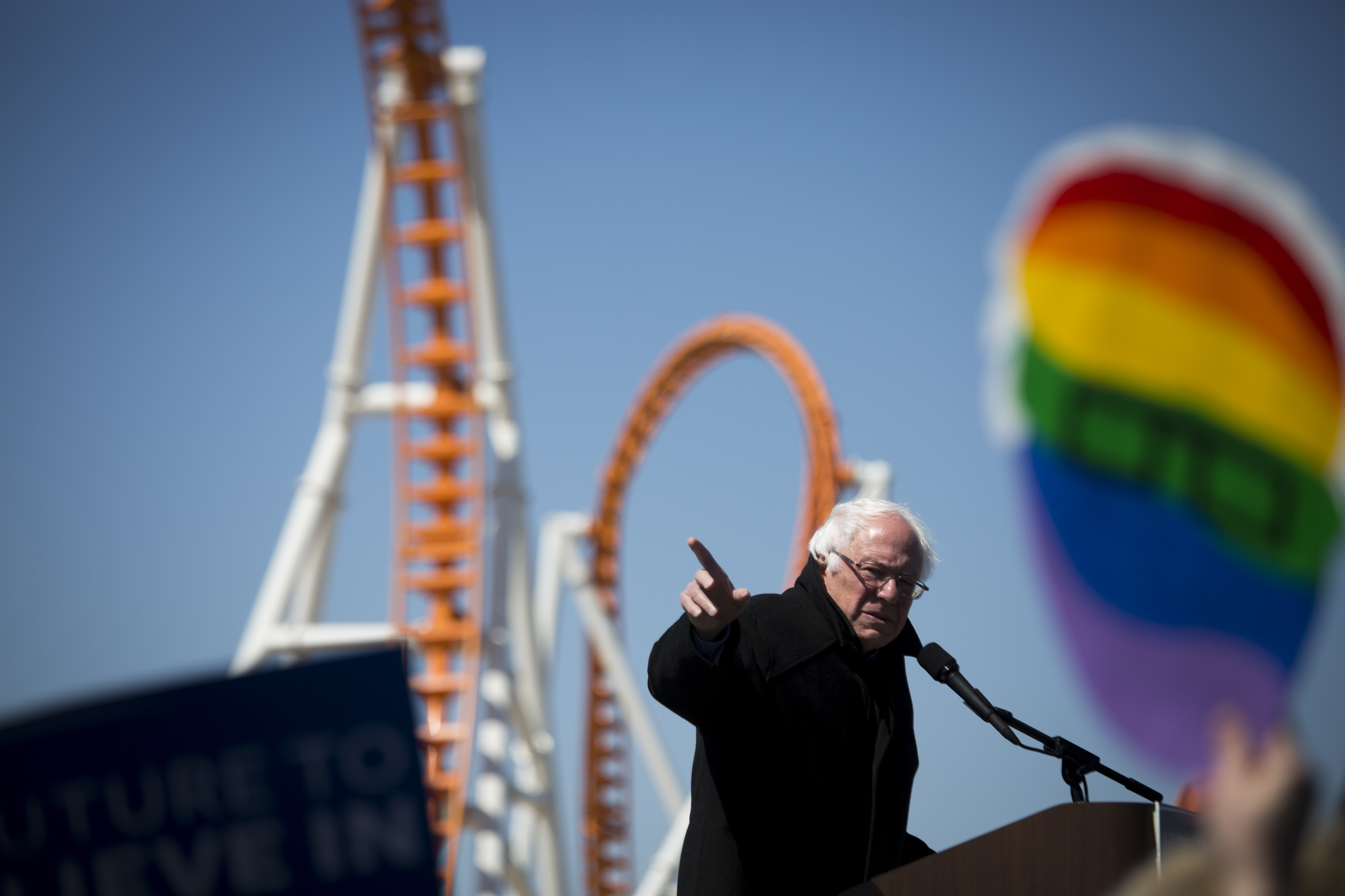 Presidential Candidate Bernie Sanders Holds Coney Island Campaign Rally