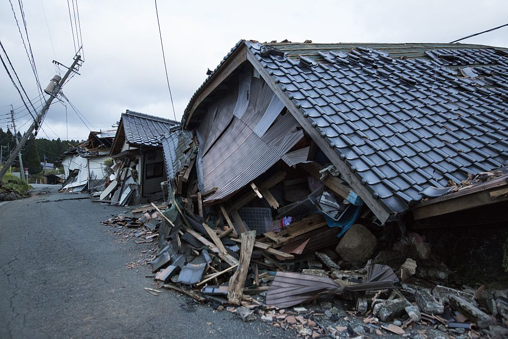 Strong earthquakes hit Japan