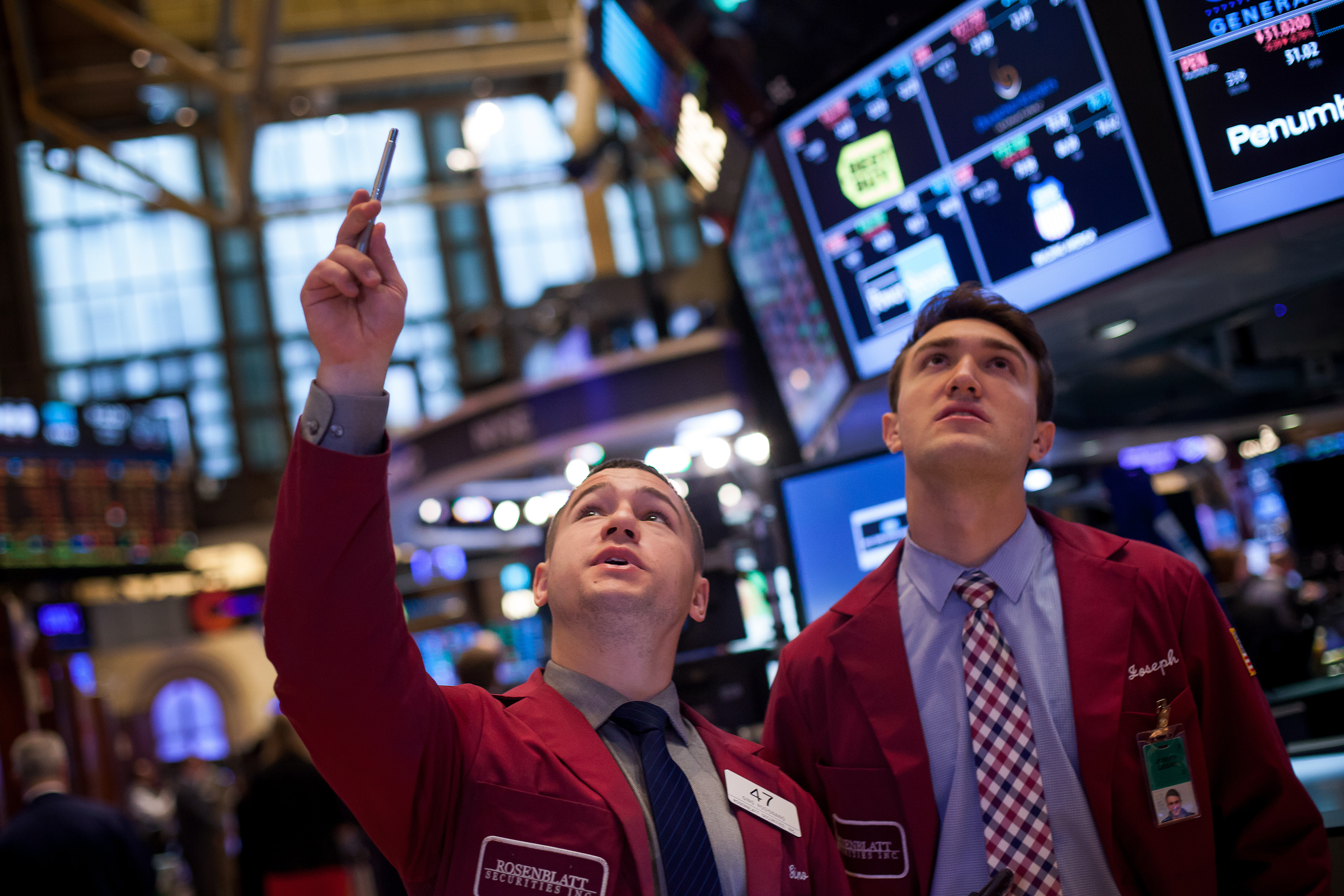 Trading On The Floor Of The NYSE As U.S. Stocks Advance While  Investors Look Past Declines In Crude Oil