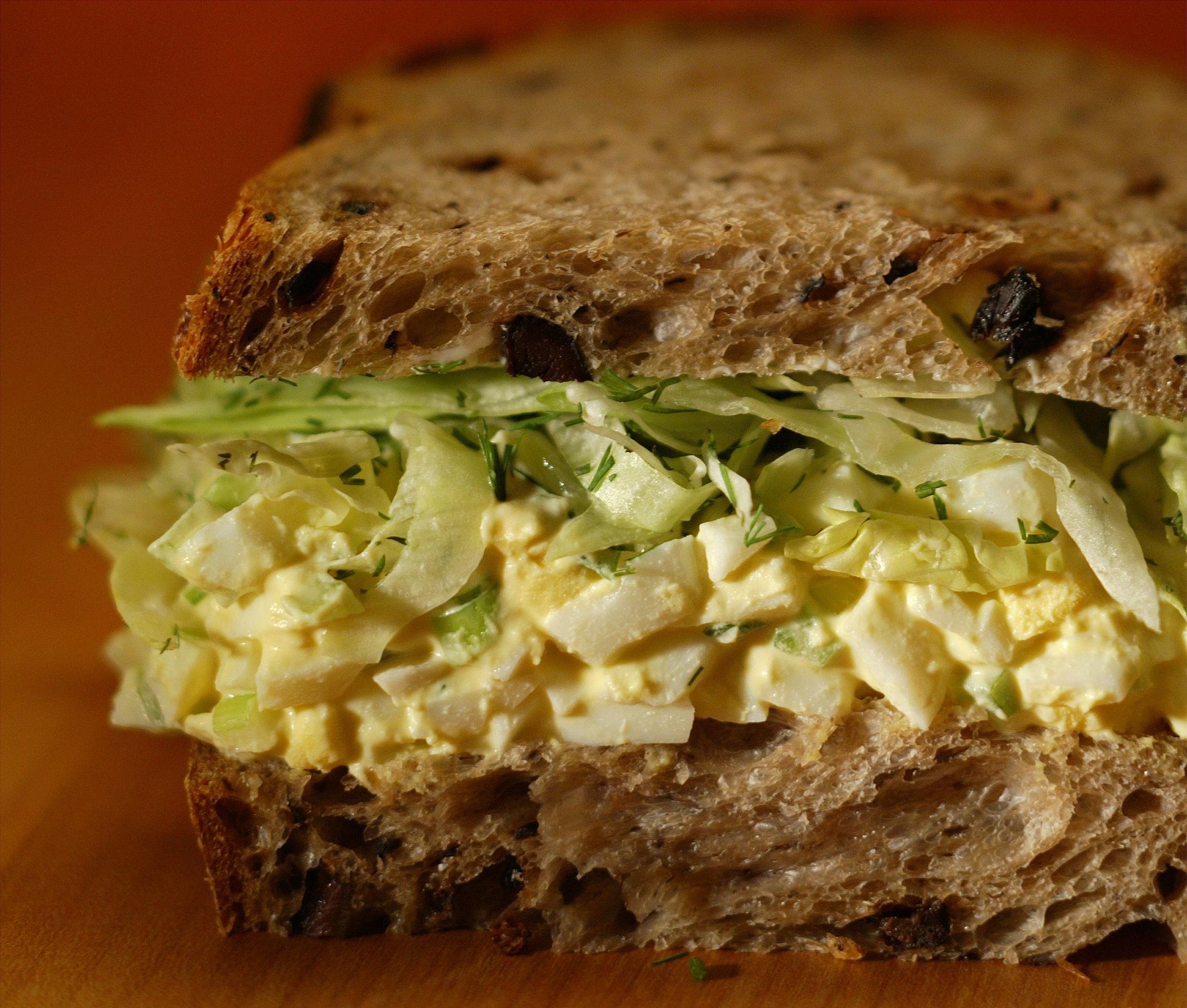 Deviled Egg salad sandwich.
