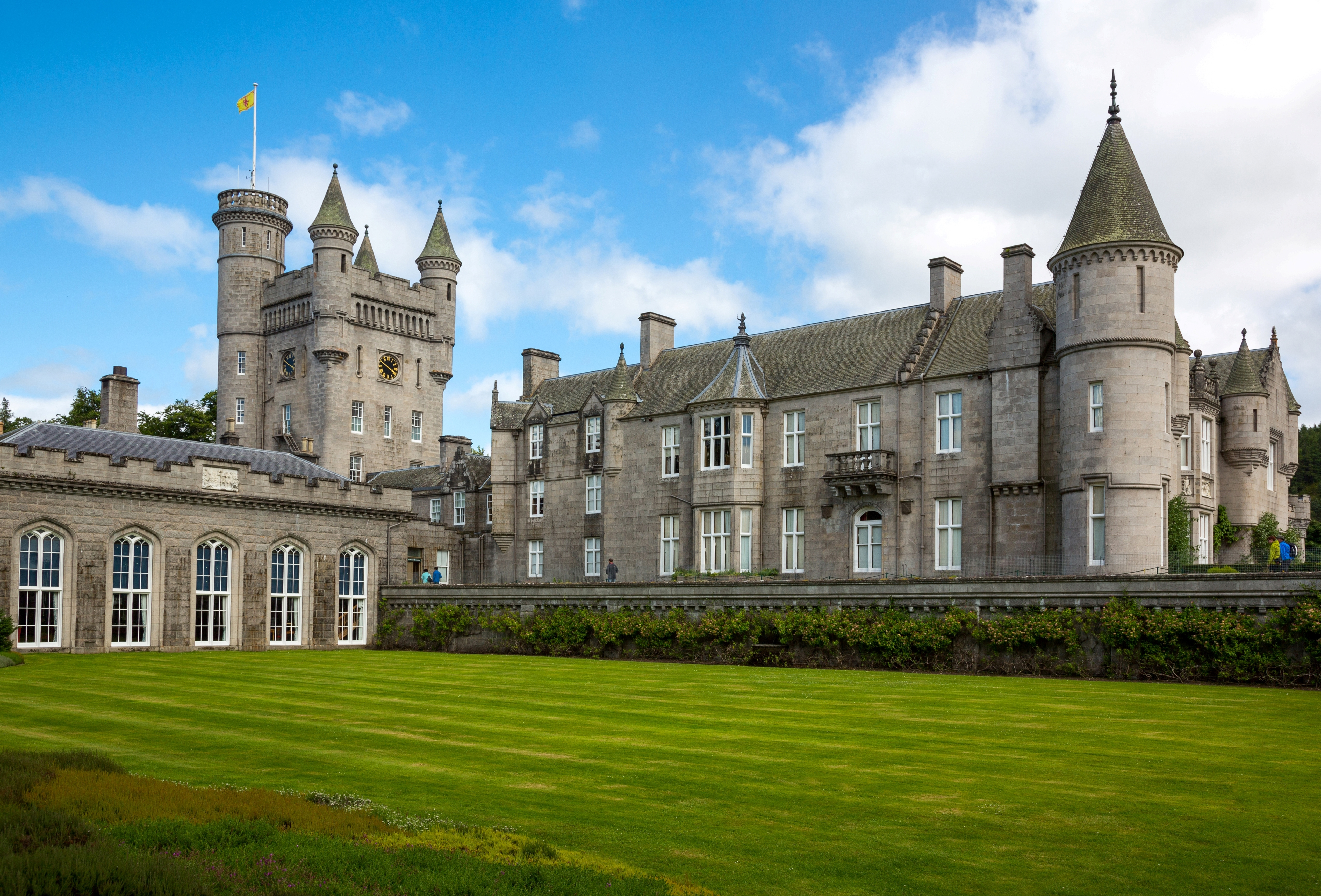 Great Britain. Scotland. Aberdeenshire. The Balmoral Castle. Summer Residence of the British Royal Family.