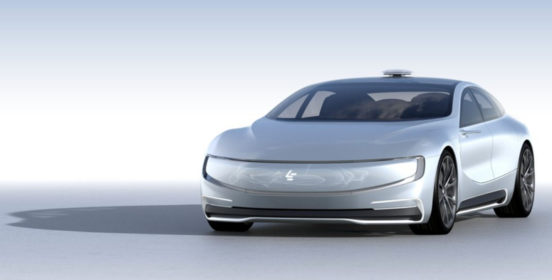 LeEco's driverless car concept.