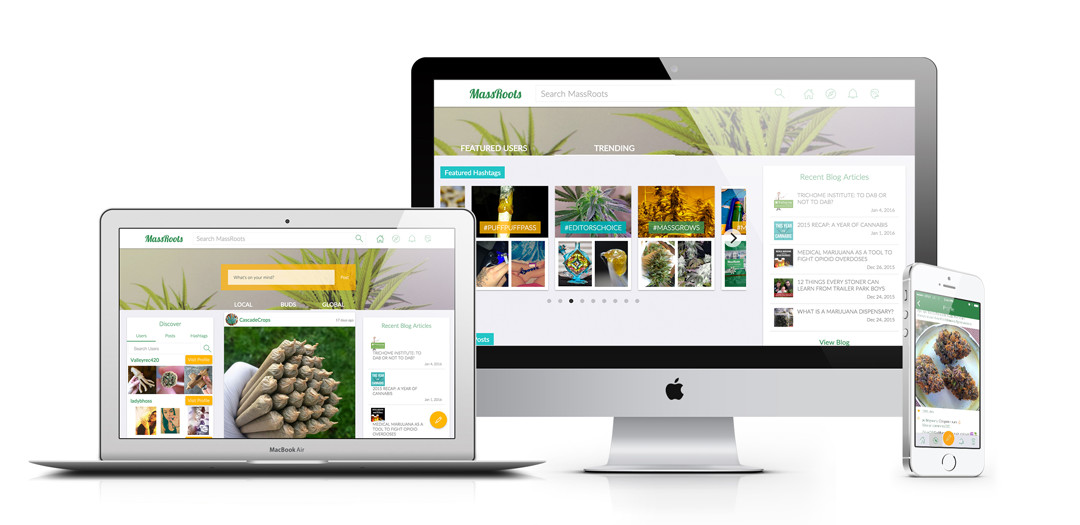 MassRoots, a social network for for the cannabis community.