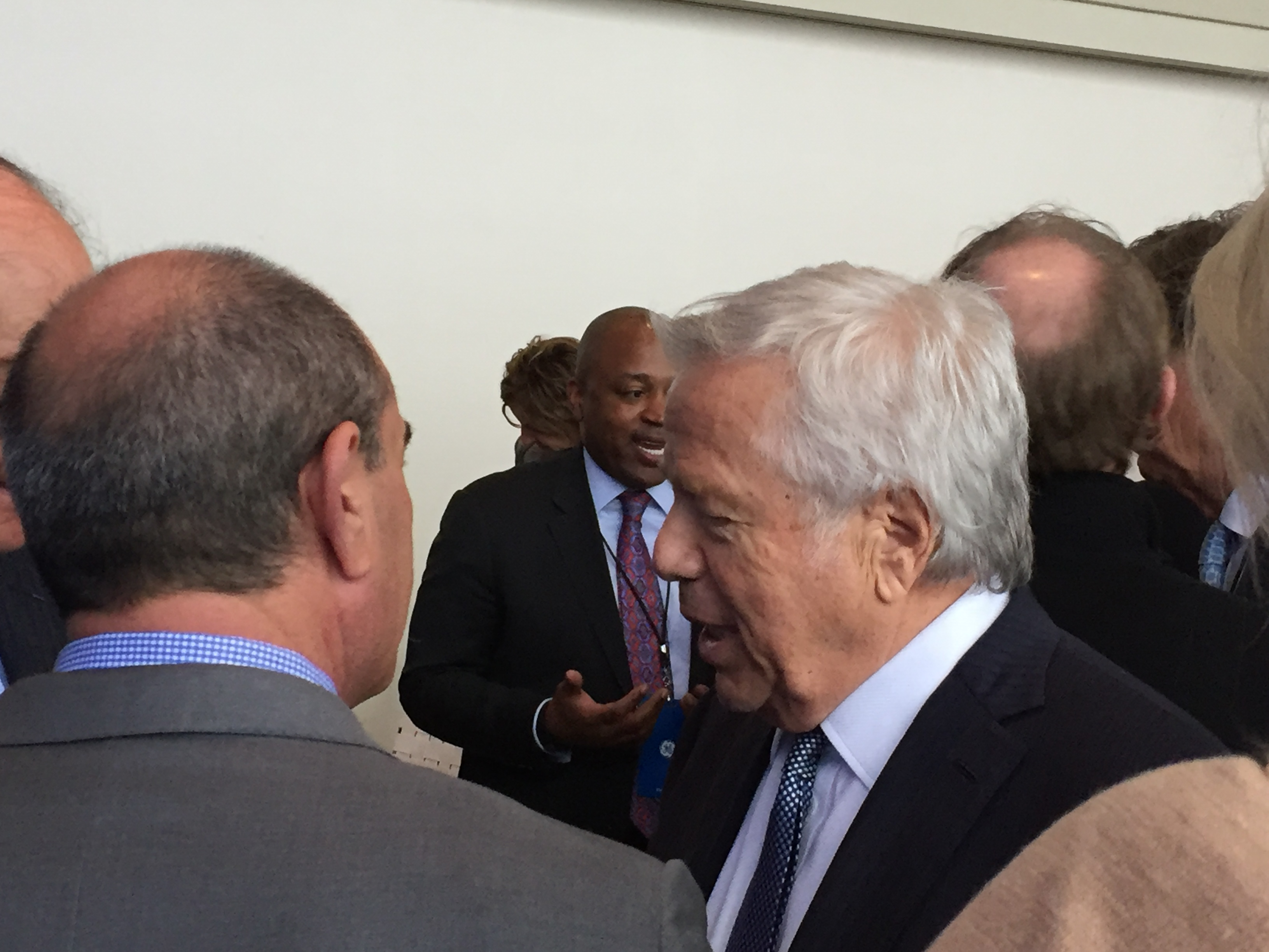 N.E. Patriots owner Robert Kraft at Boston reception for GE.