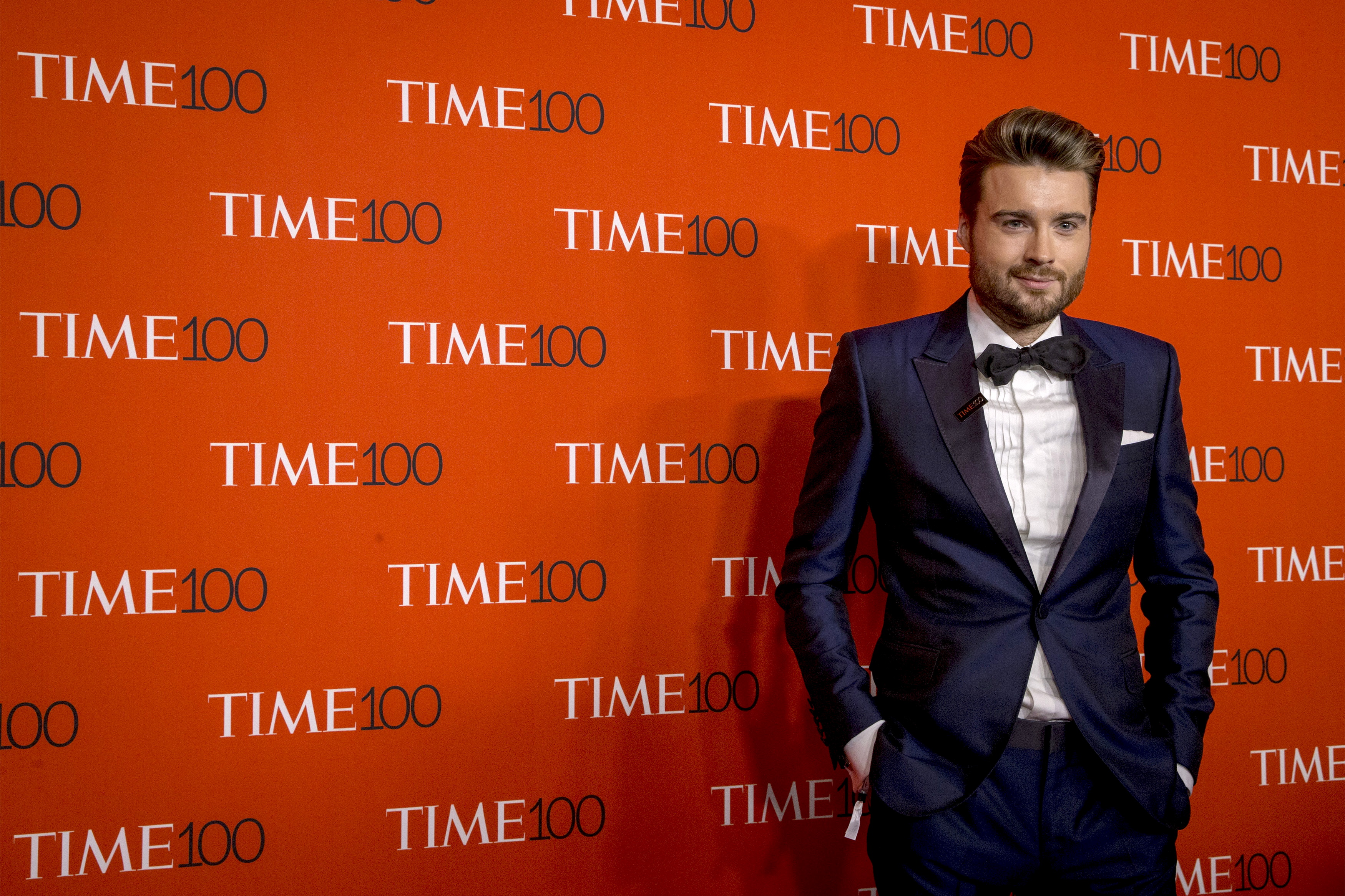 CEO and Founder of Mashable, Pete Cashmore arrives for the TIME 100 Gala in New York