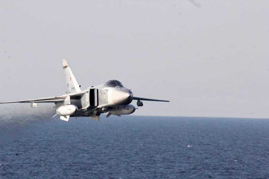 Russian jet passes US destroyer ship in Baltic Sea