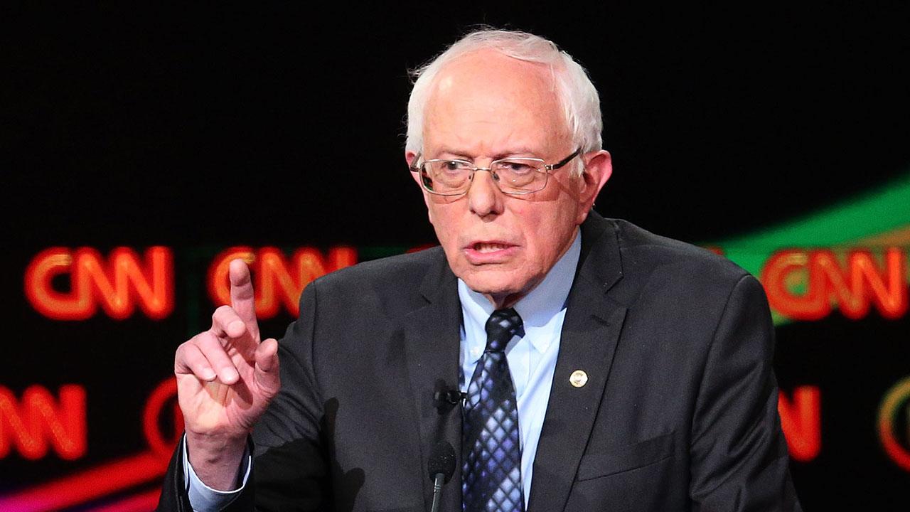 Vermont Senator and Democratic presidential candidate Bernie Sanders
