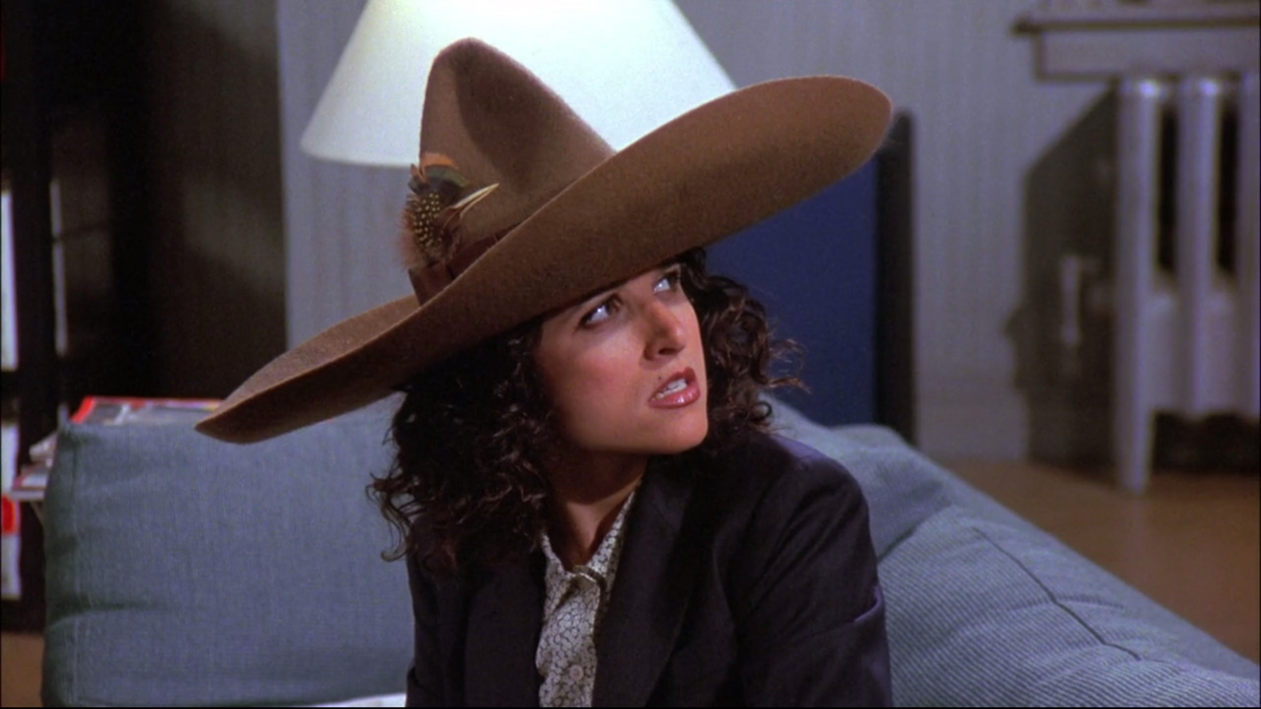The new cover of the J. Peterman catalog. The Urban Sombrero.