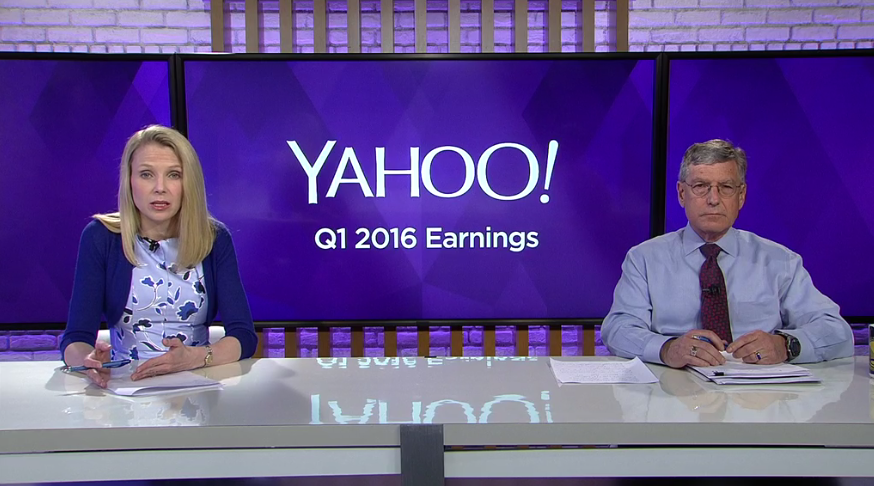 Yahoo CEO Marissa Mayer and CFO Ken Goldman.