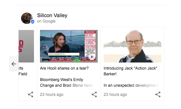 HBO Silicon Valley Google Fake News Results