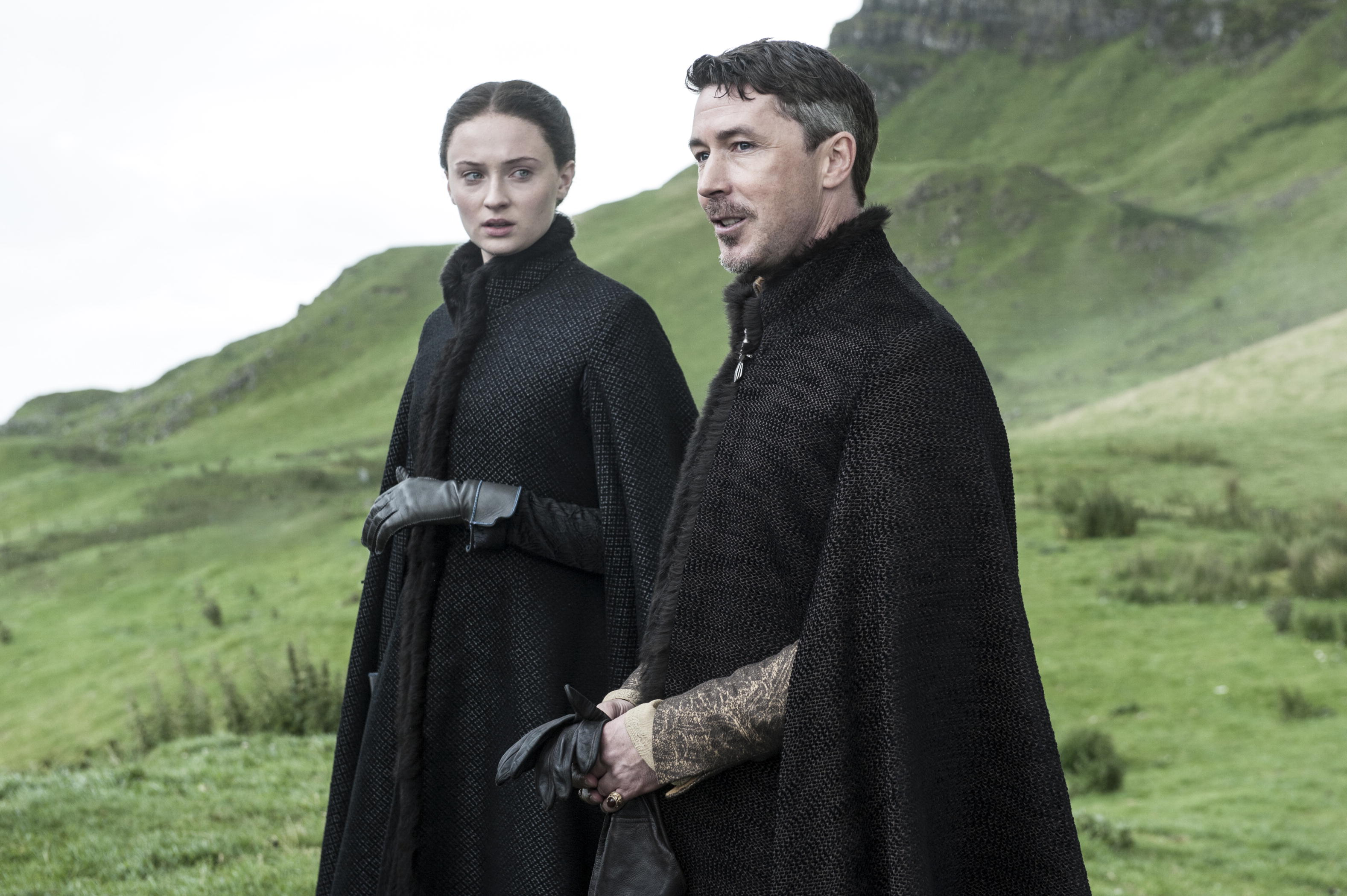 "Sophie Turner and Aidan Gillen star in HBO's ""Game of Thrones"" Season 6."