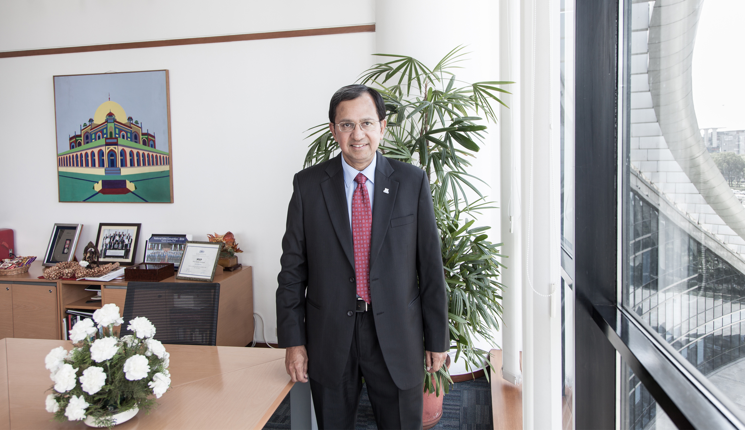 Suresh Narayanan in his office at Nestle' House in Gurgaon, outside New Delhi, India.