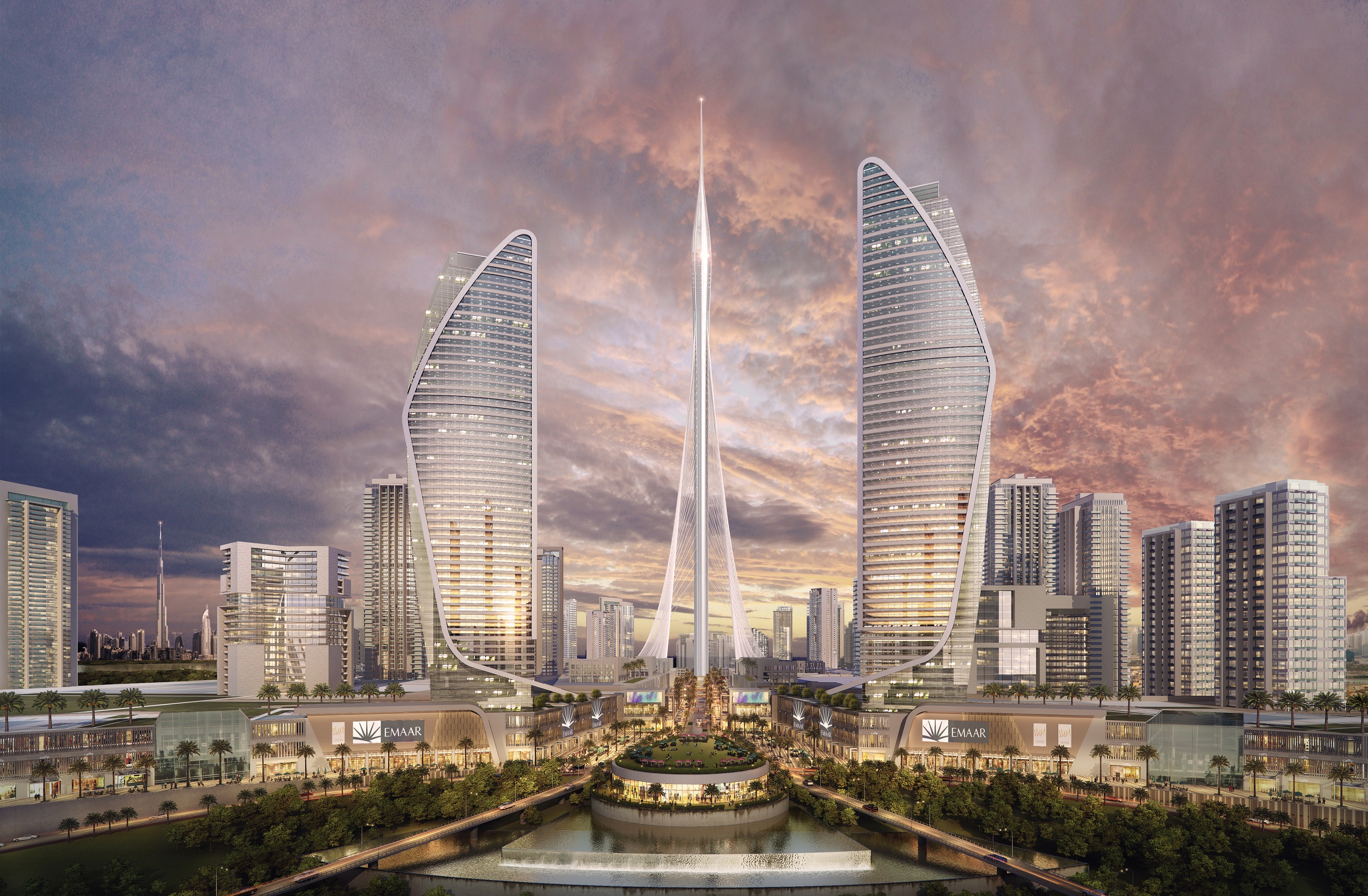 "A rendering of a new building, called ""The Tower,"" that if built would be the world's tallest."