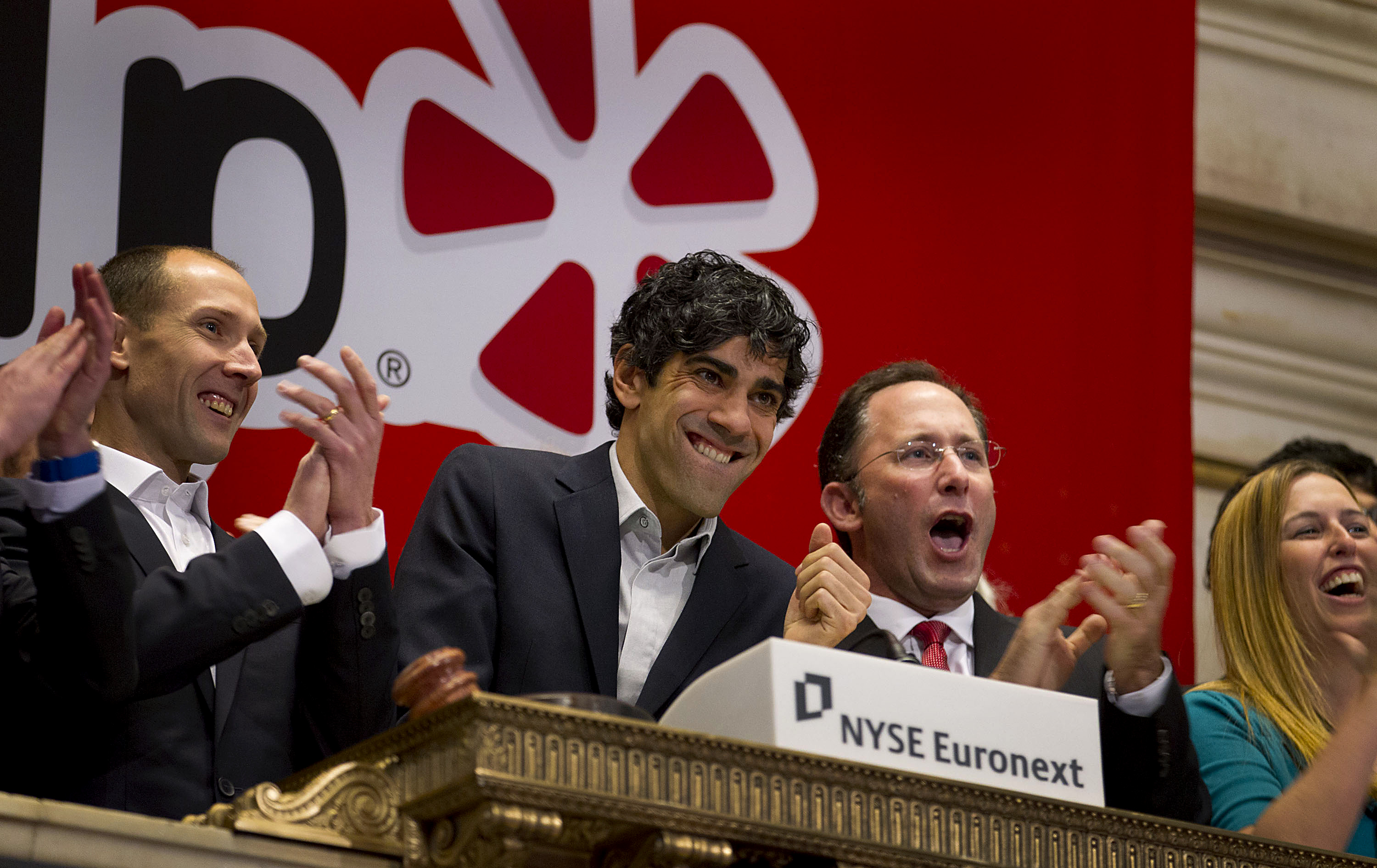 Yelp CEO Jeremy Stoppelman Rings The Opening Bell At The NYSE
