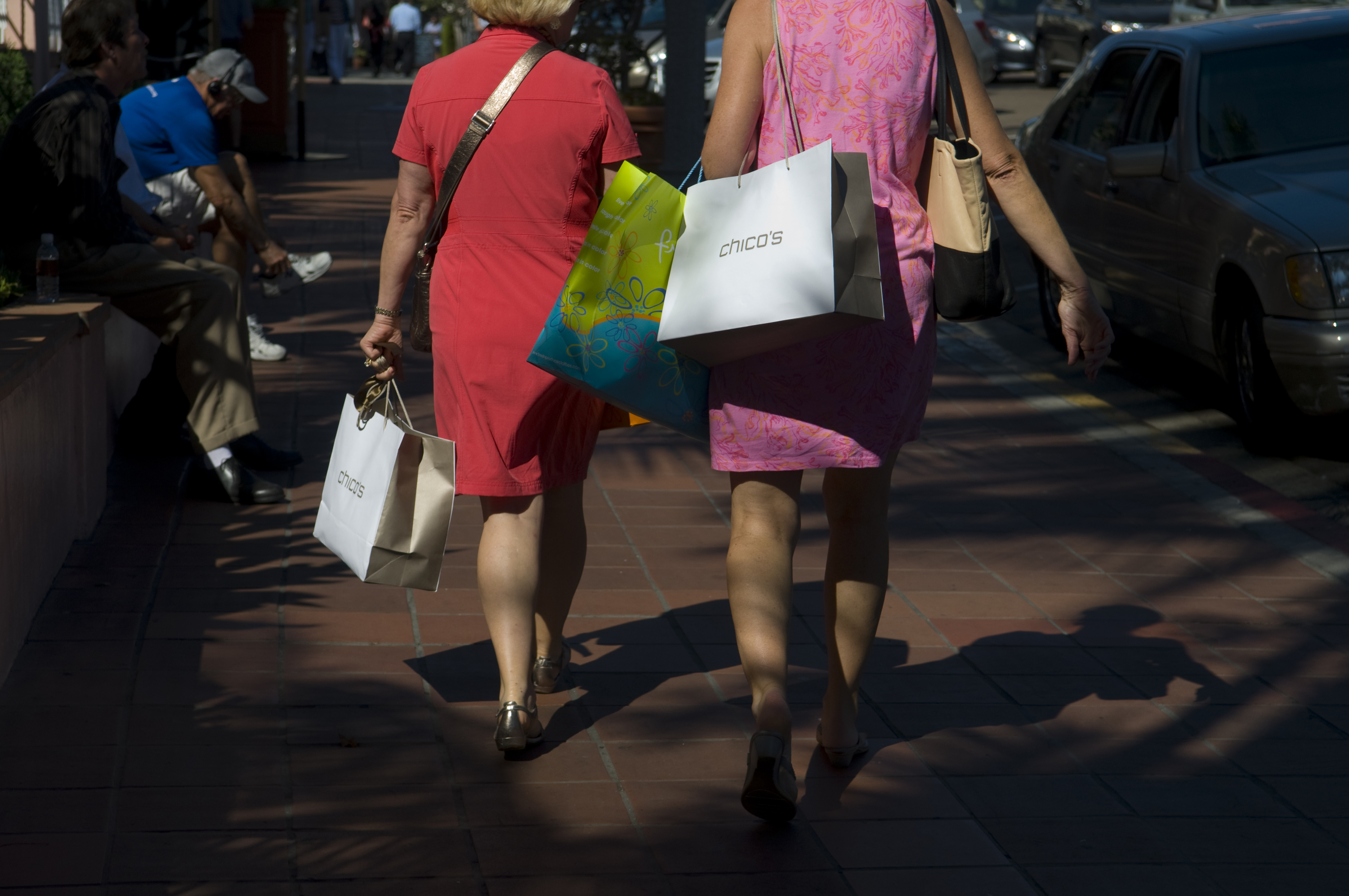 General Views Of Shoppers In La Jolla Ahead Of Consumer Confidence Data