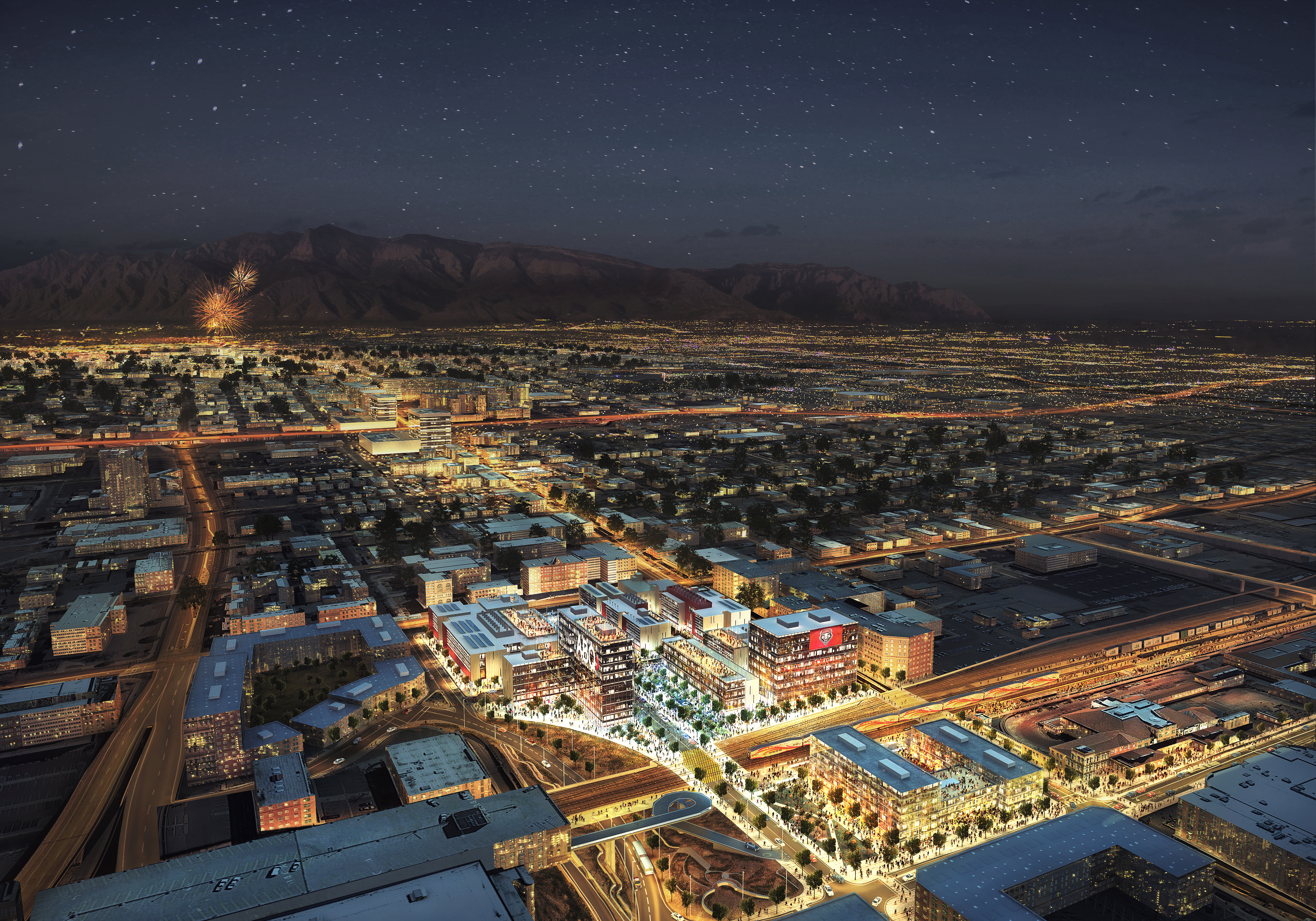 An innovative mixed-use urban development plan connects the University of New Mexico with Albuquerque's downtown to create a new-world research corridor