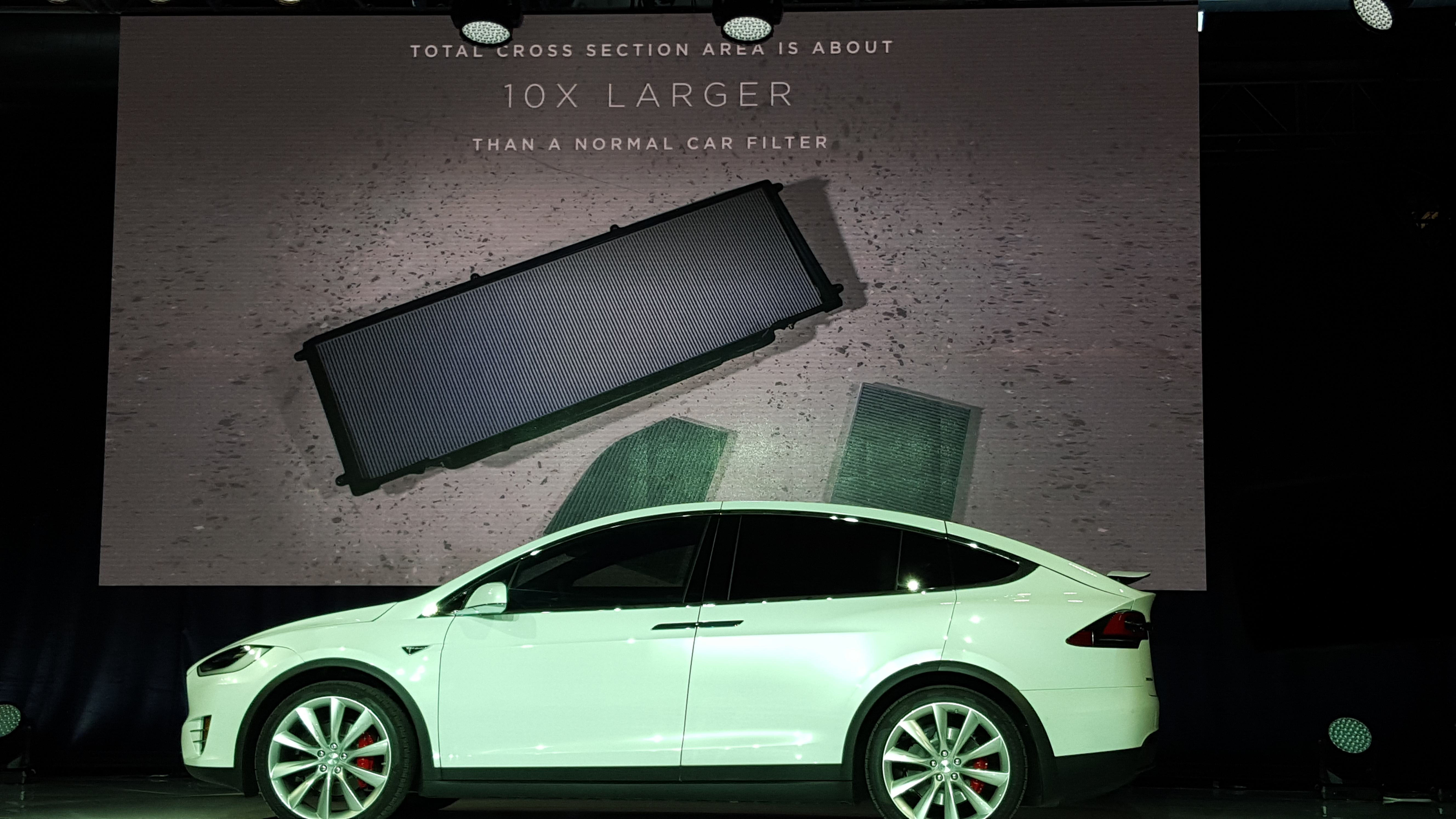 The Model X, and the new version of the Model S, come with an advanced air filtration system with a bioweapon defense mode button.