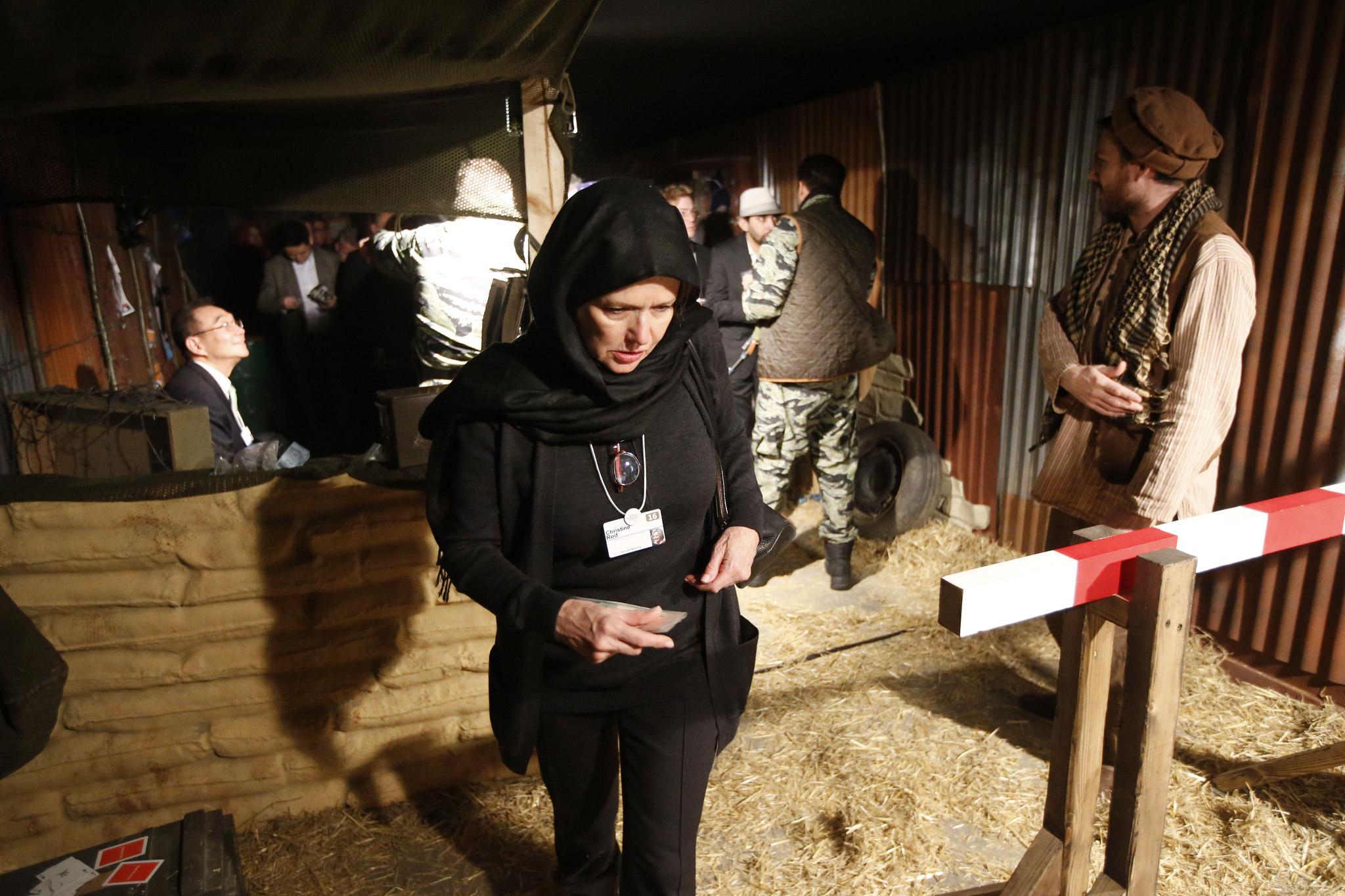 Davos refugee simulation.