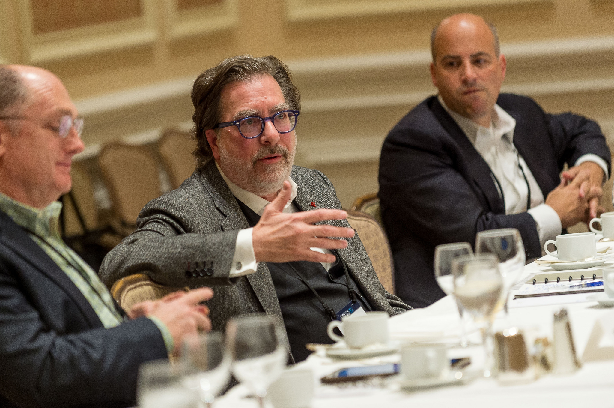 Will Sarni (center), director and practice leader of water strategy at Deloitte, at Fortune's Brainstorm E conference