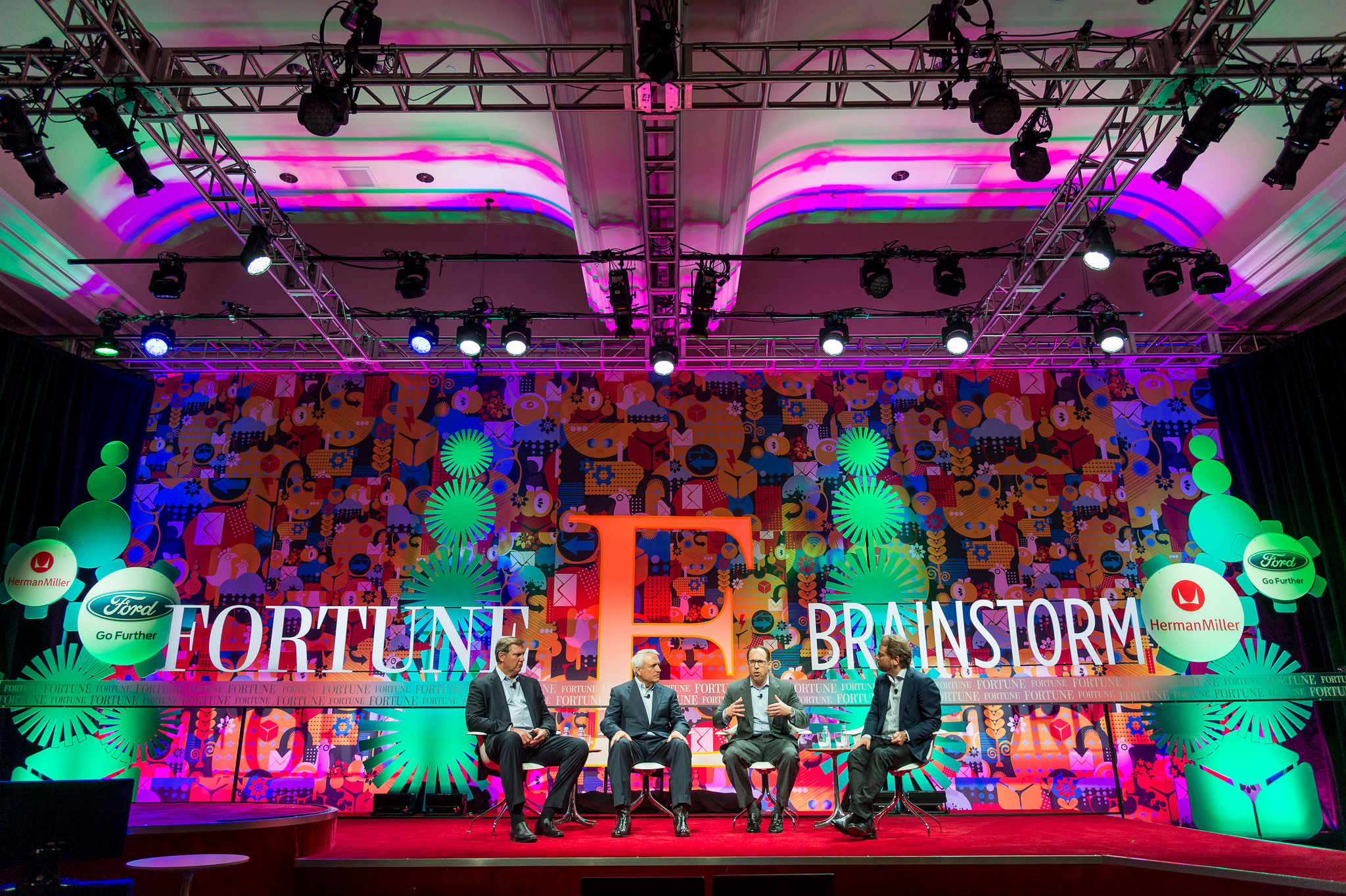 On stage at Fortune Brainstorm E on May 17 were Eric Spiegel, president and CEO, Siemens USA; Bill Ritter, founder and director, Center for the New Energy Economy; Glenn Lurie, president and CEO, AT&T Mobility and Consumer Operations; and Andrew Shapiro founder and partner, Broadscale Group.