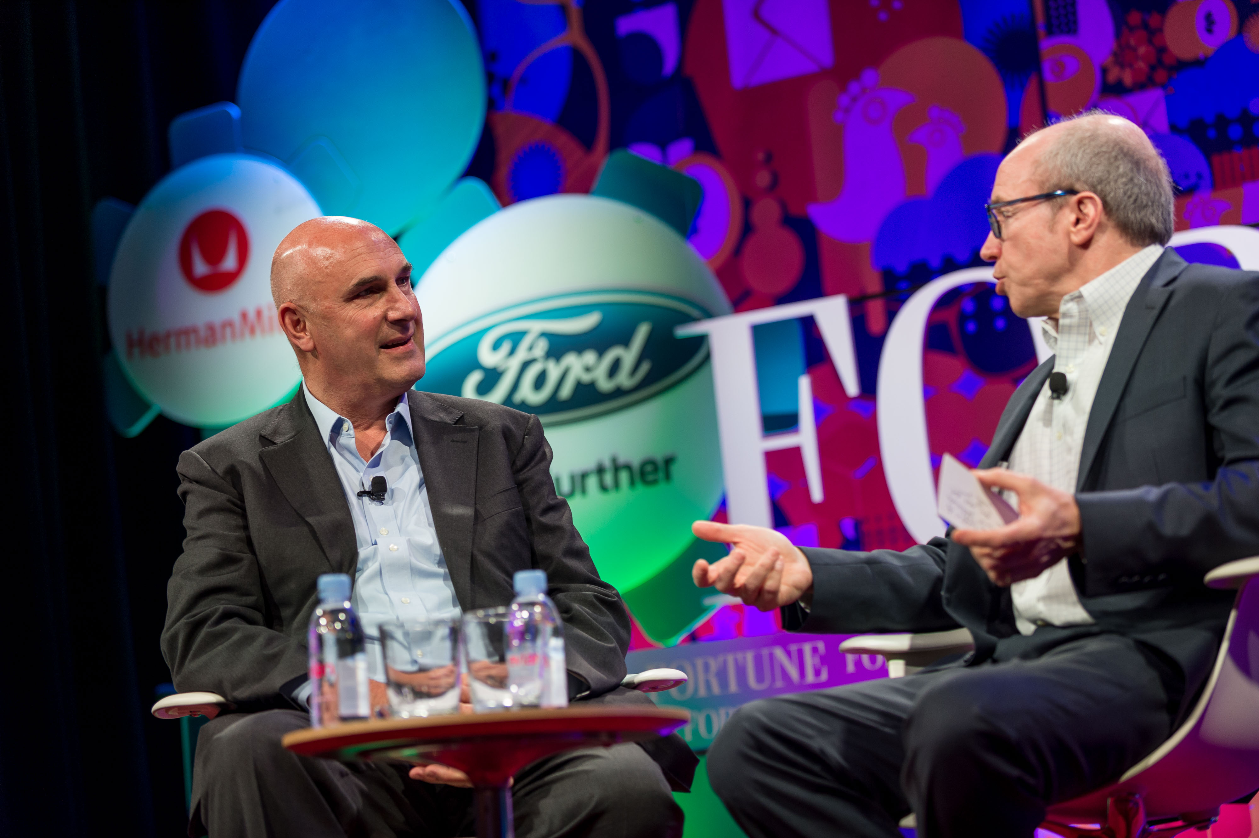 Monsanto CEO Hugh Grant and Fortune editor Alan Murray at Brainstorm E.