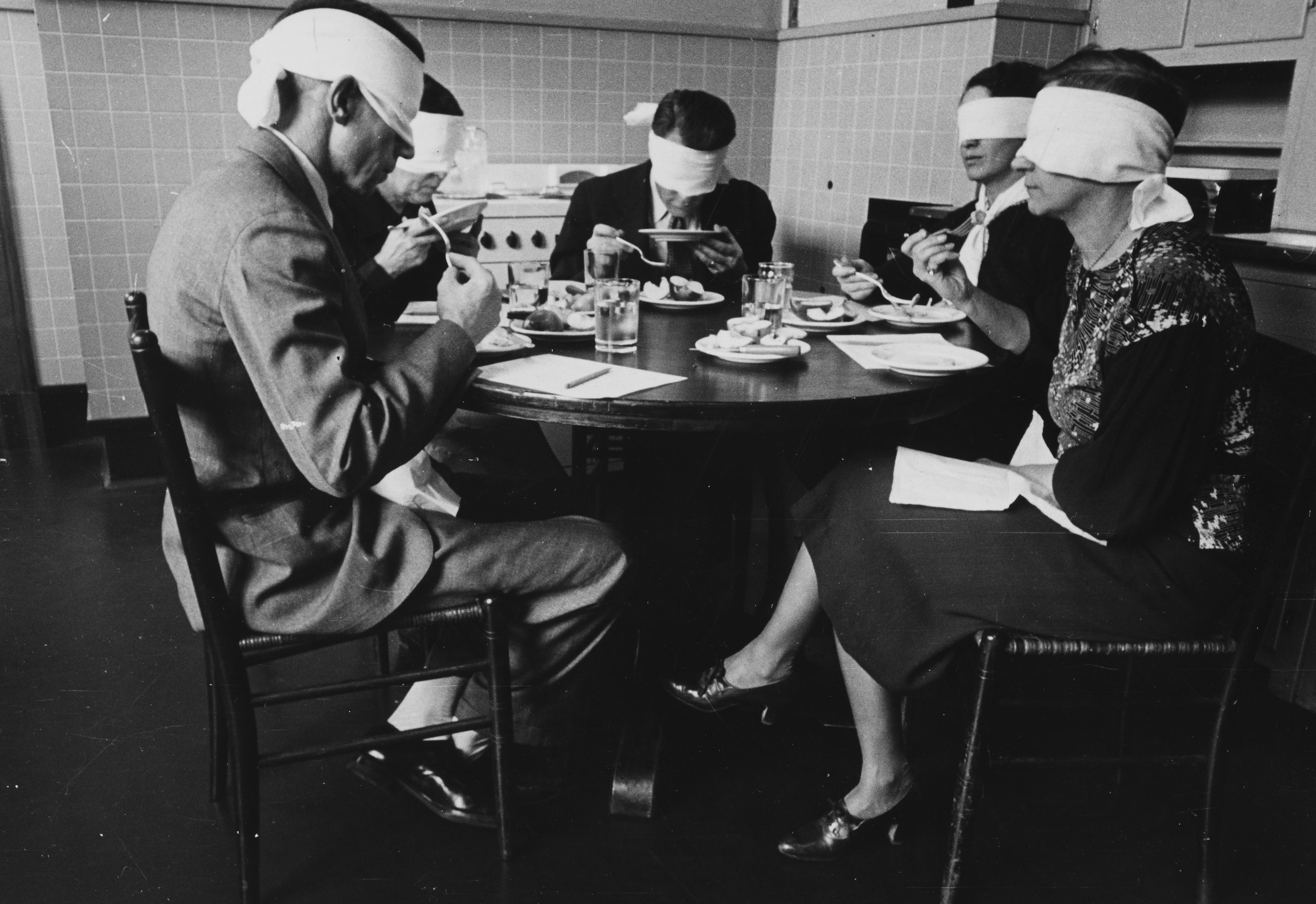 Blindfolded Focus Group In Taste Test