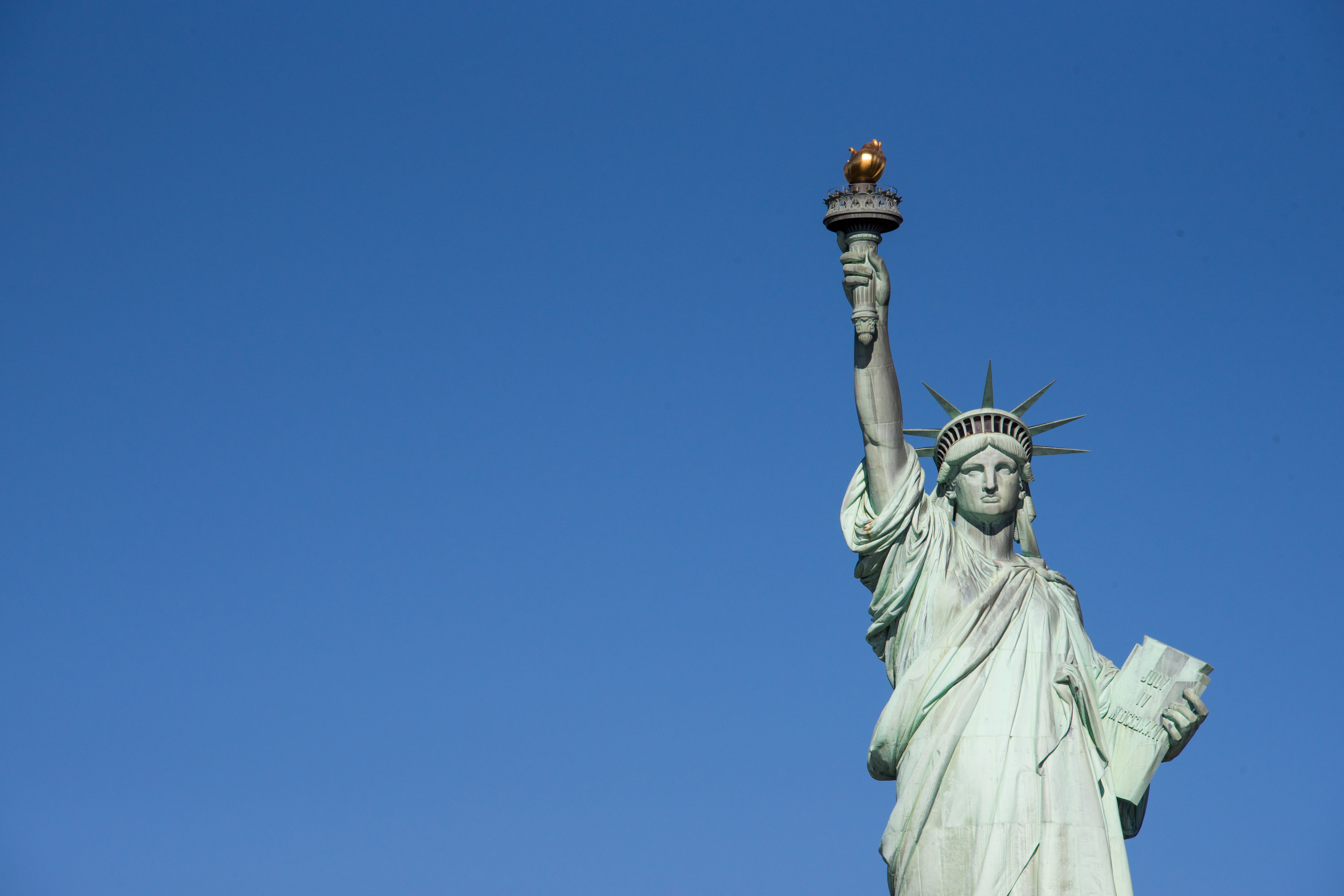Statue of Liberty or Green Lady, one of the most important