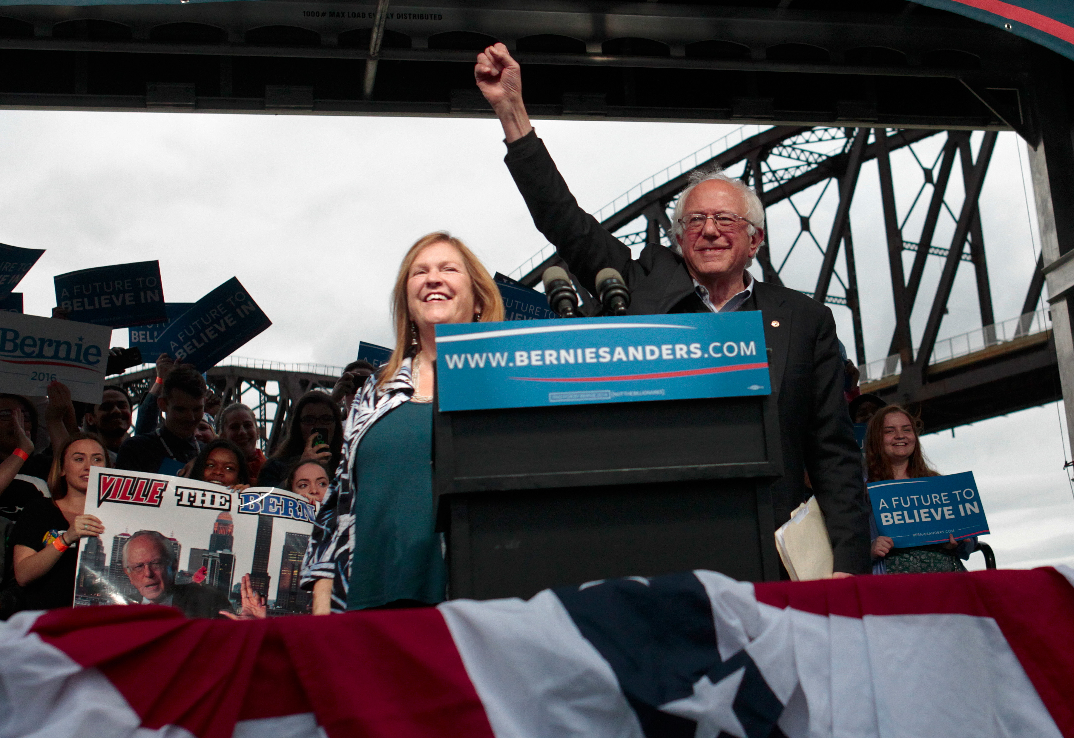 Bernie Sanders Holds Campaign Rally In Louisville, Kentucky