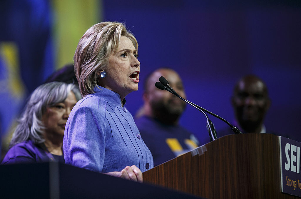 Presidential Candidate Hillary Clinton Speaks At The SEIU 2016 International Convention