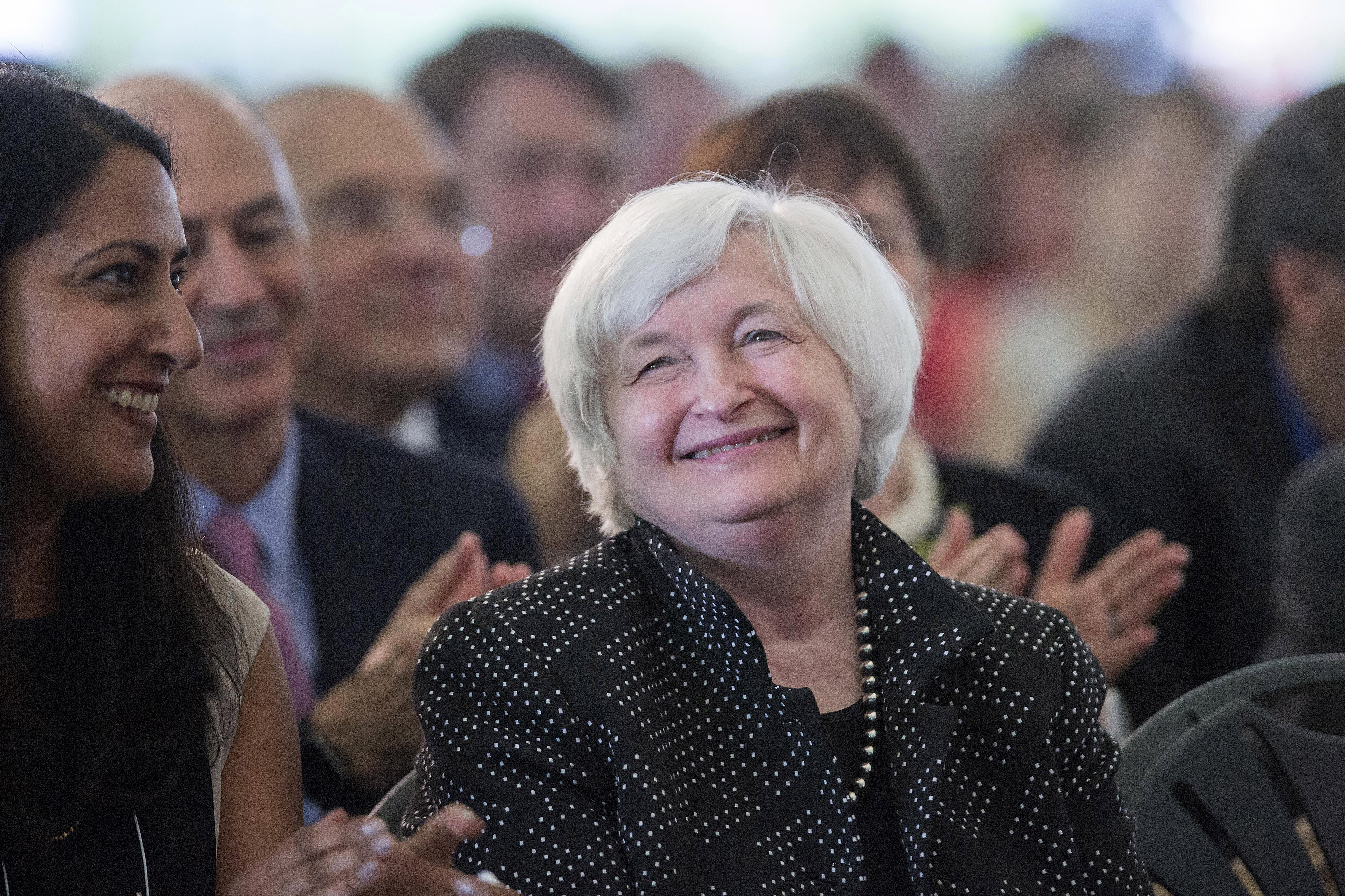 Federal Reserve Chair Janet Yellen Speaks At Harvard's Radcliffe Day