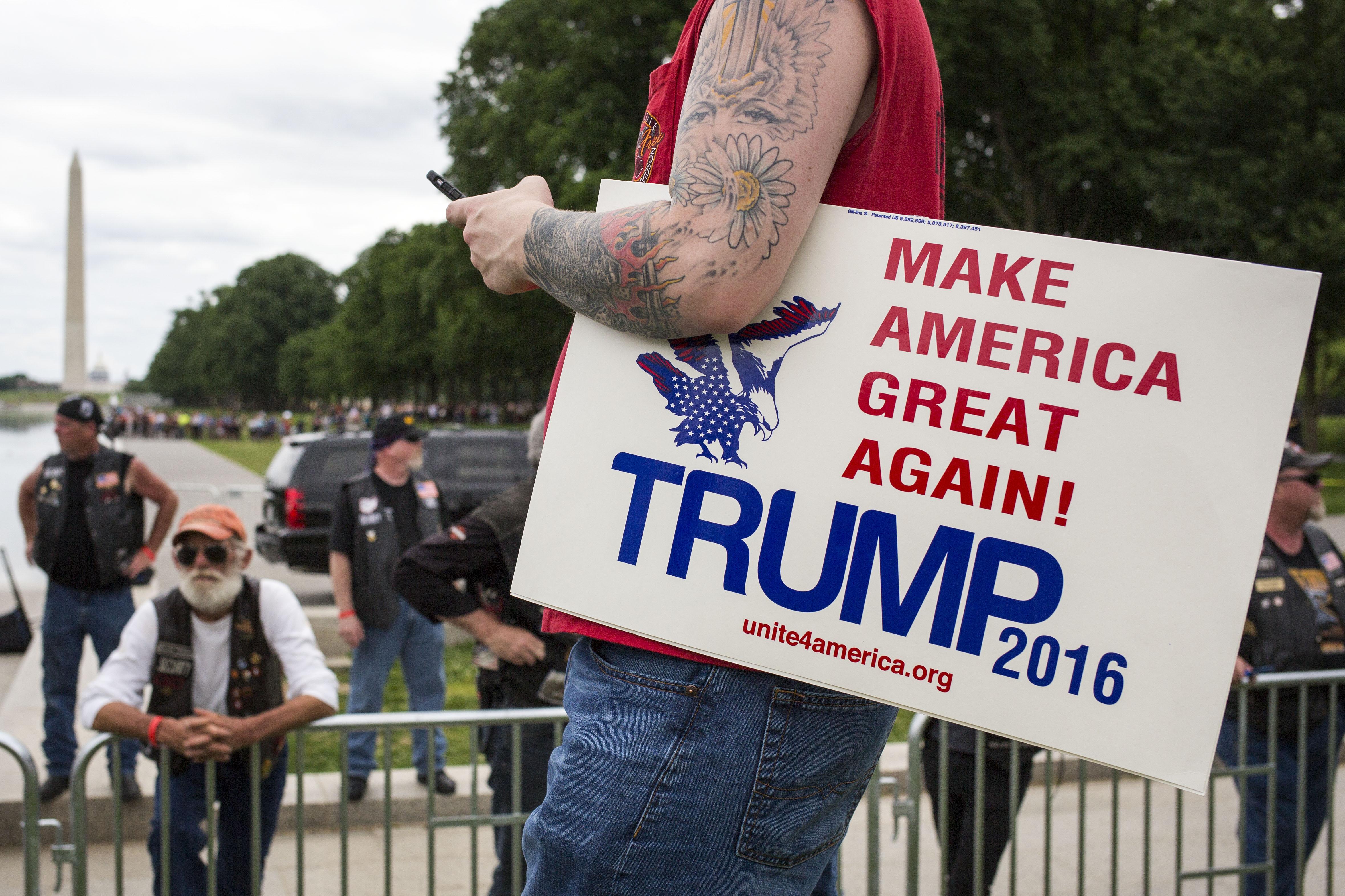 GOP Donald Trump at Rolling Thunder Bike Rally