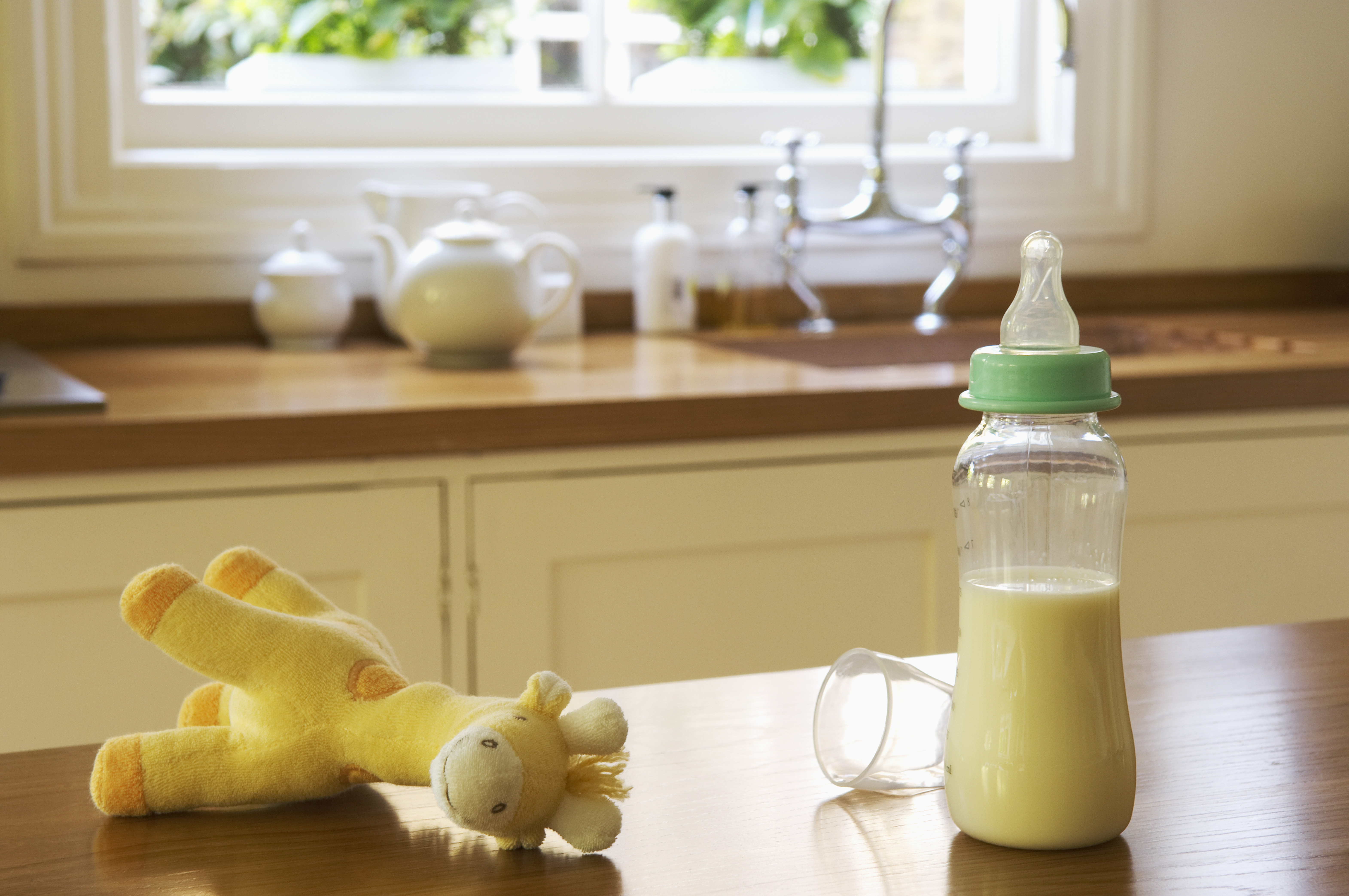 Baby Items on Kitchen Counter