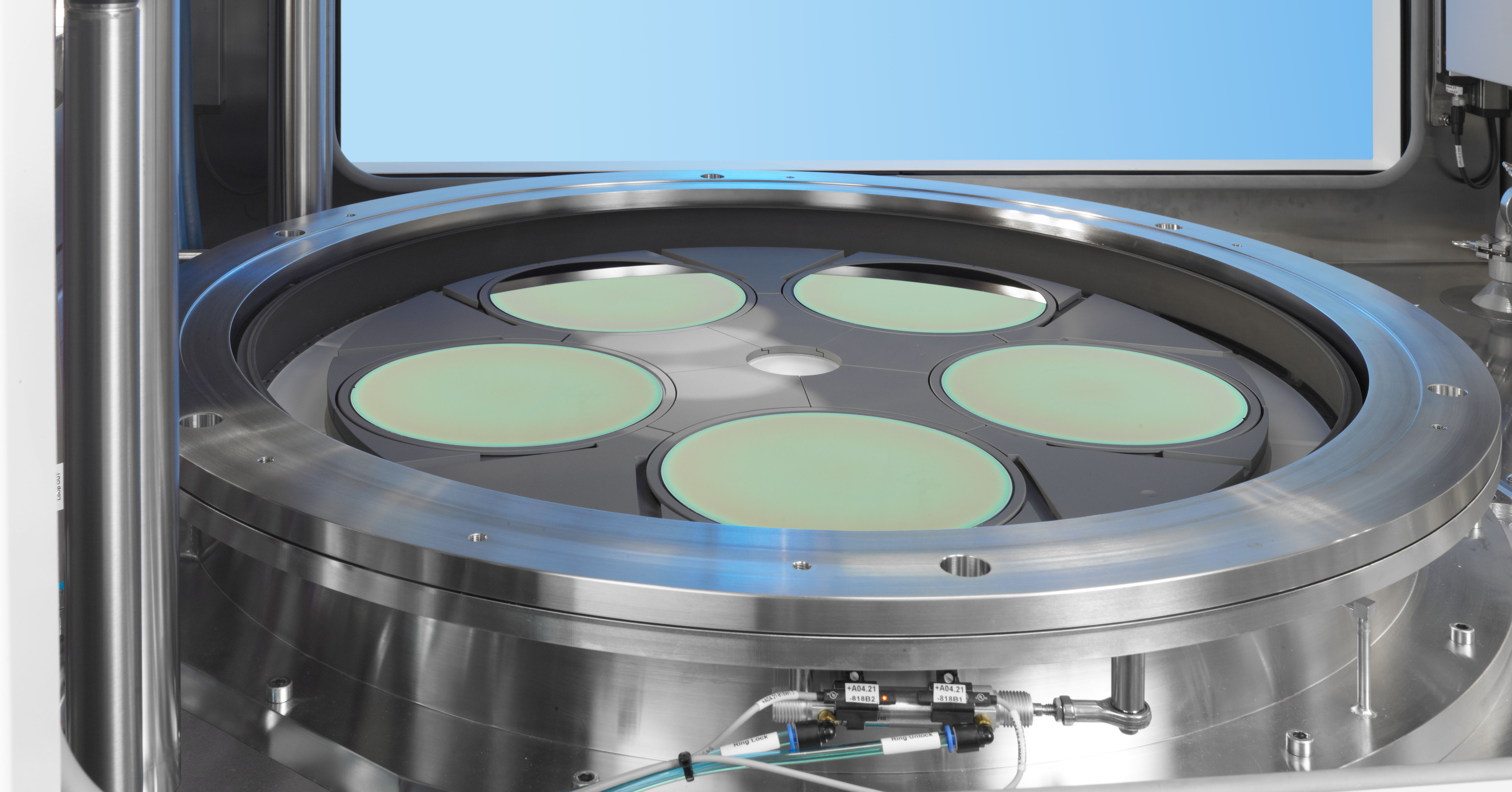 Aixtron's AIX G5+ reactor, used in the semiconductor manufacturing industry.