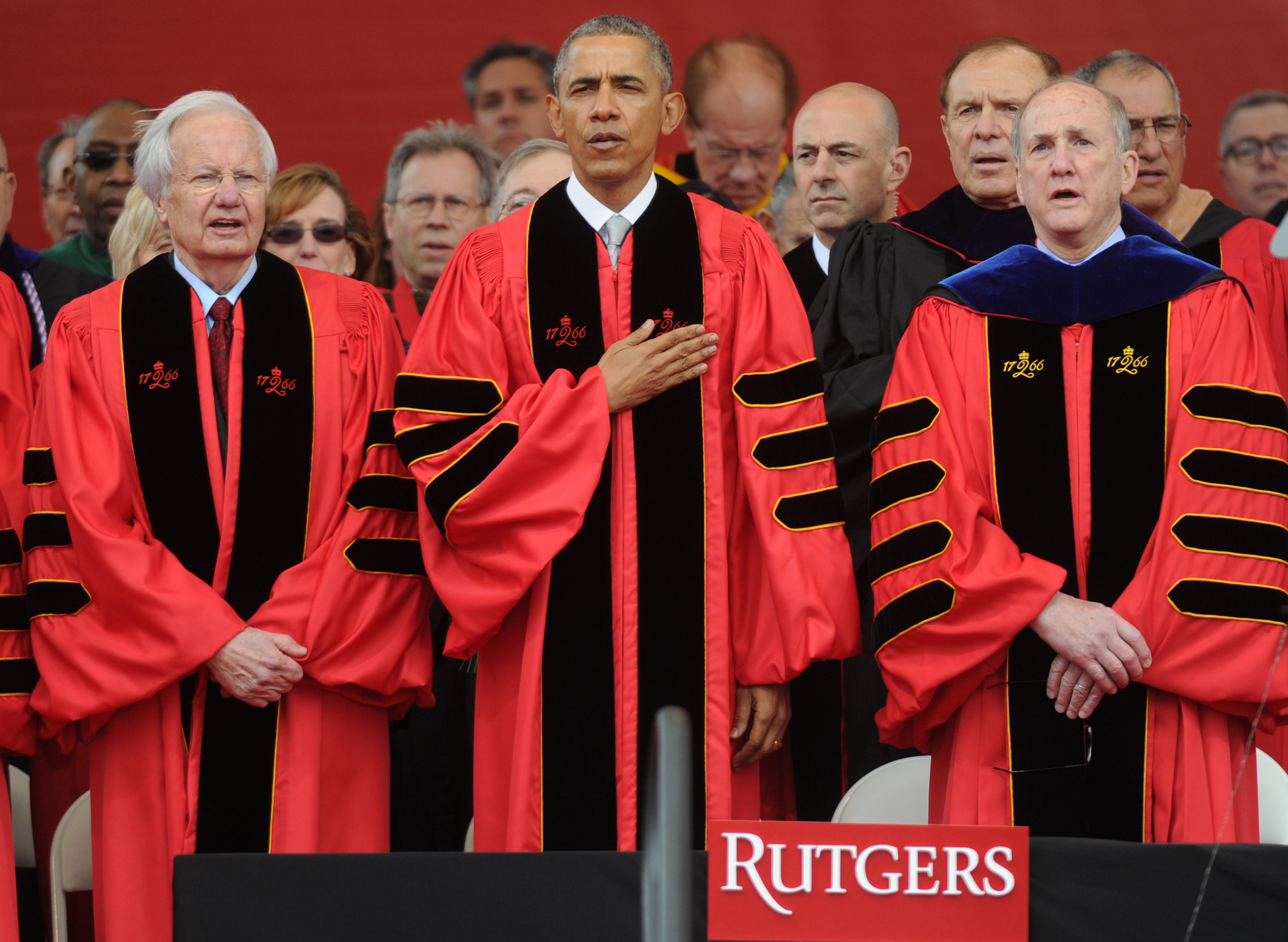 President Obama Speaks At Rutgers University 2016 Commencement - New Jersey