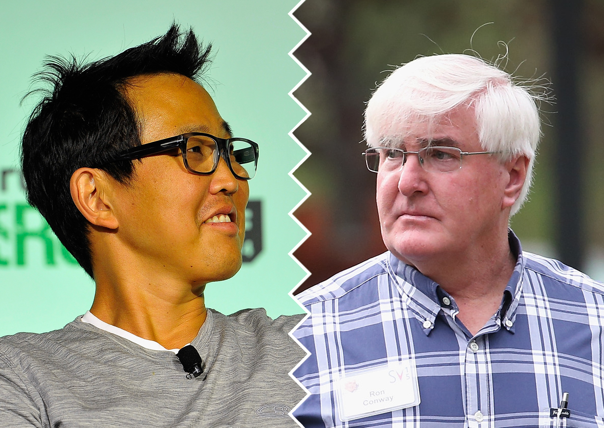 David Lee (left) and Ron Conway (right) former partners at SV Angel.
