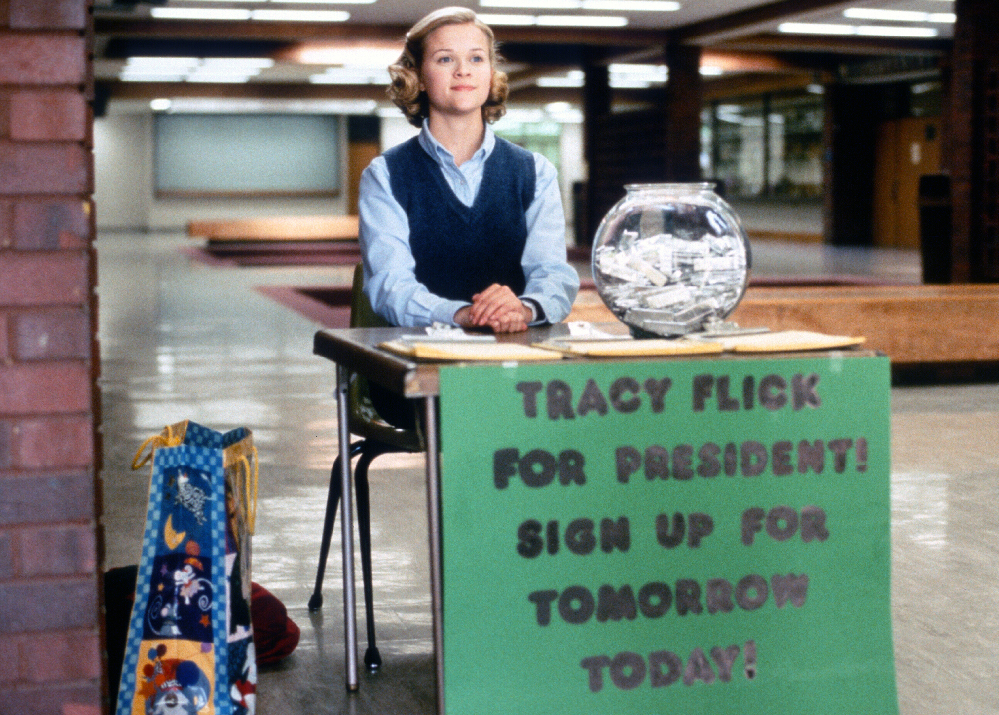 Election (1999)Directed by Alexander PayneShown: Reese Witherspoon (as Tracy Enid Flick)