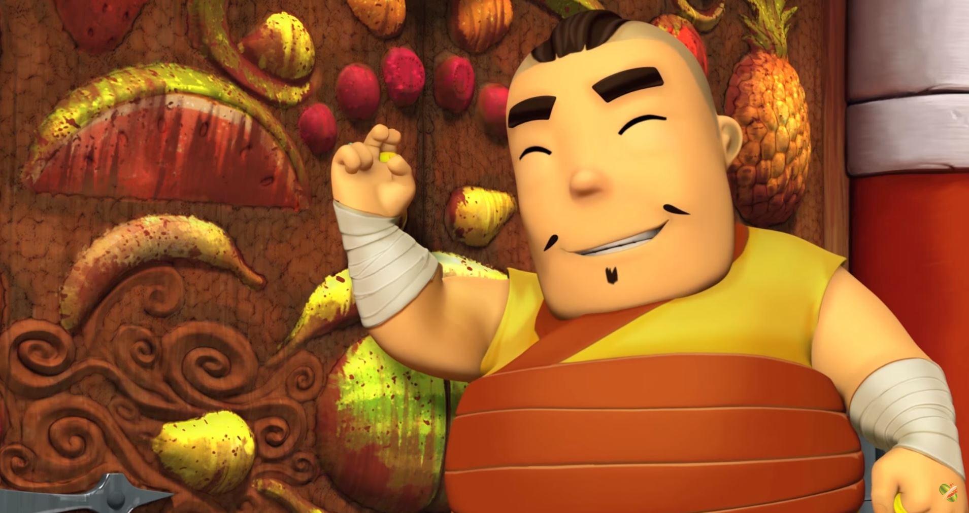Still from promotional Fruit Ninja animation.