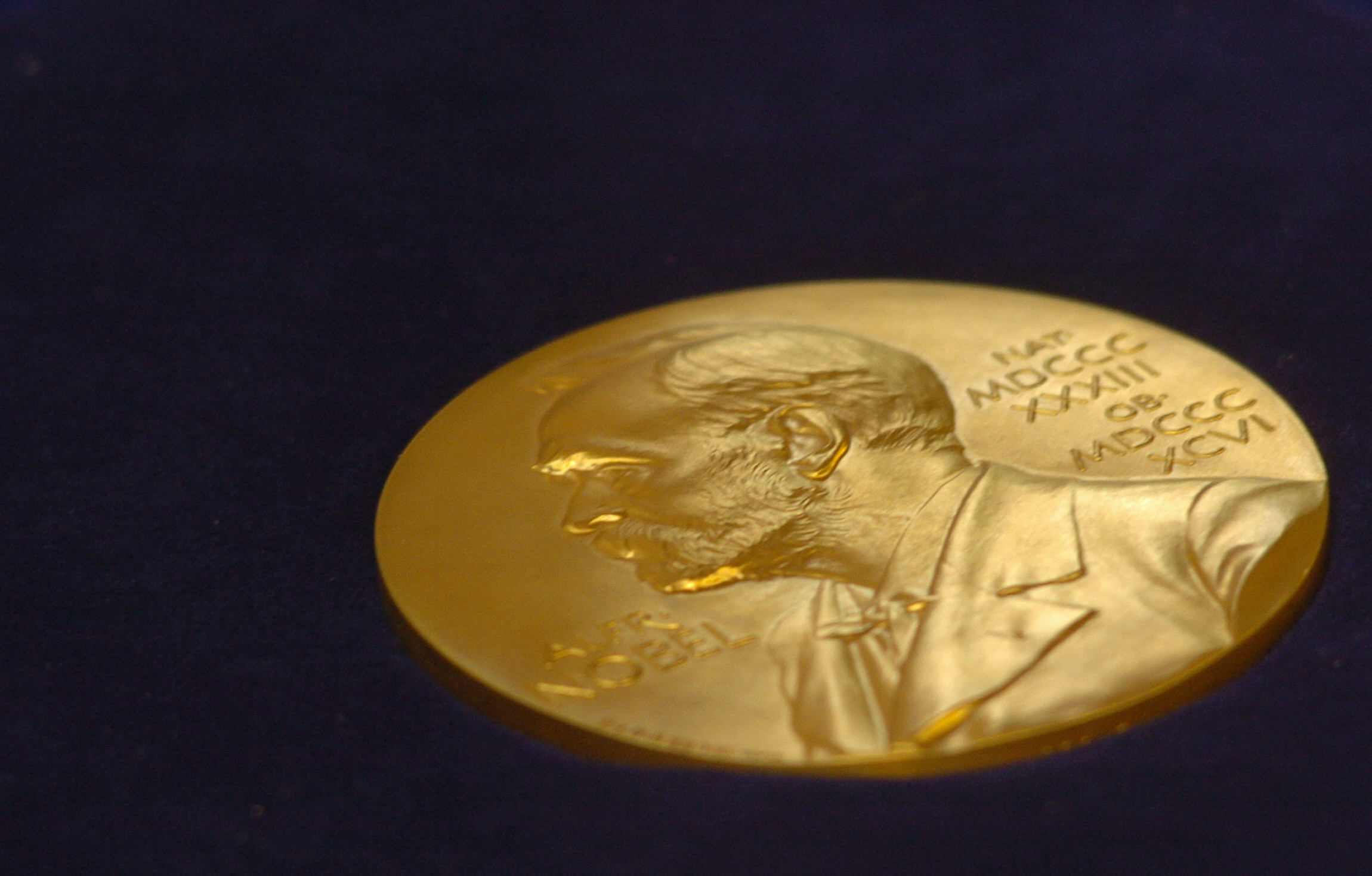 The gold replica of the Nobel medal is o