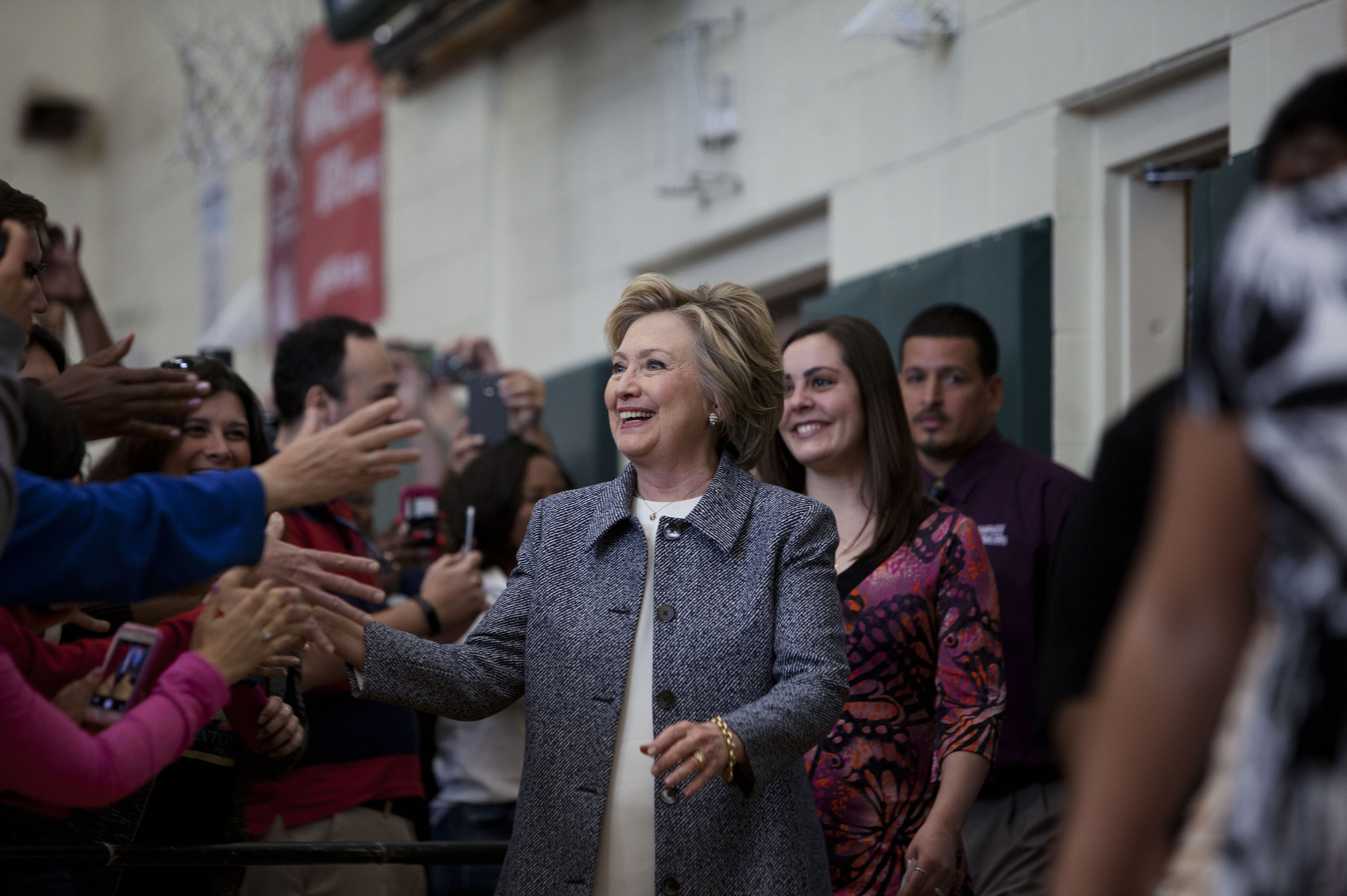 Presidential Candidate Hillary Clinton Holds Connecticut Campaign Rally