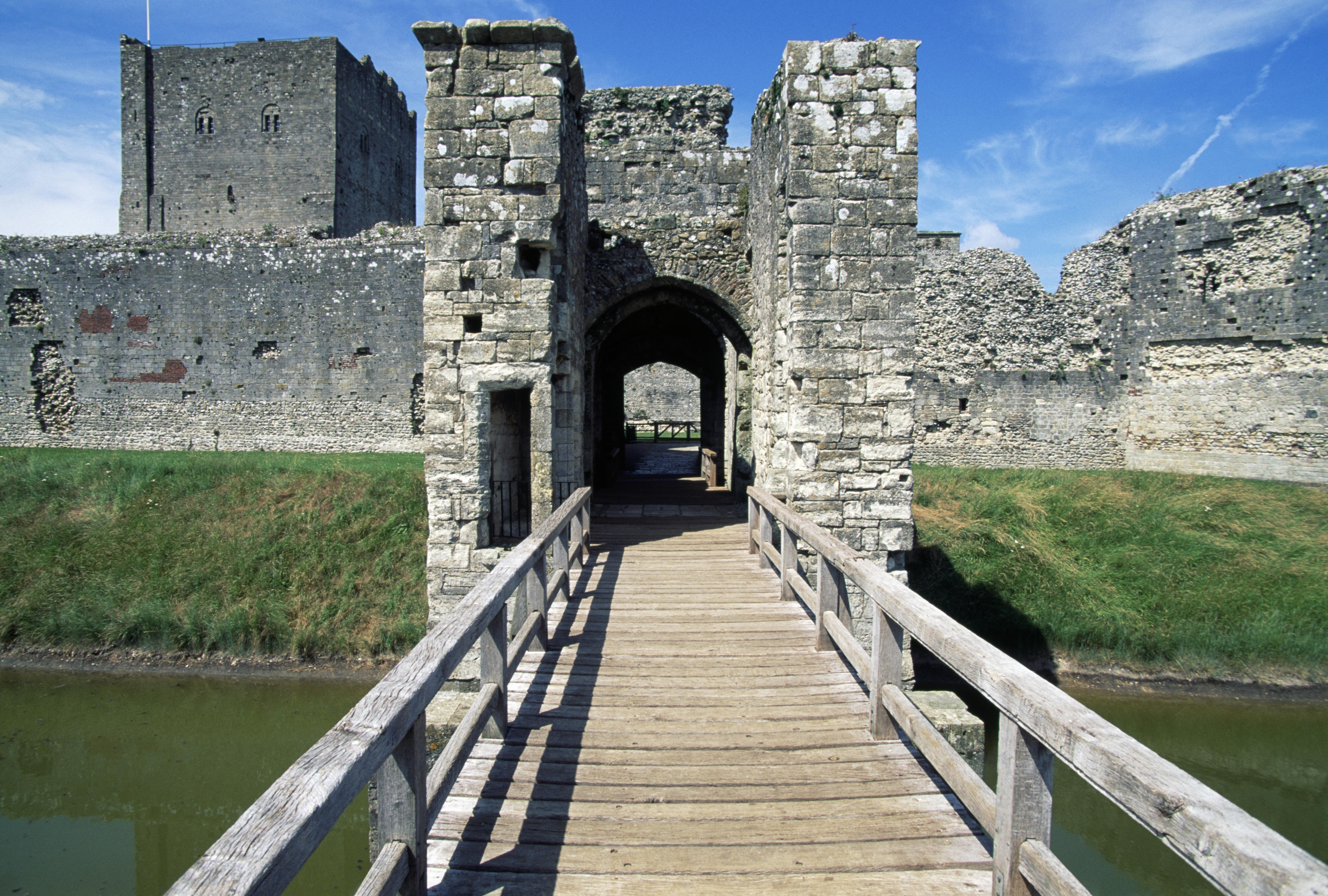 Portchester Norman Castle, Hampshire, England