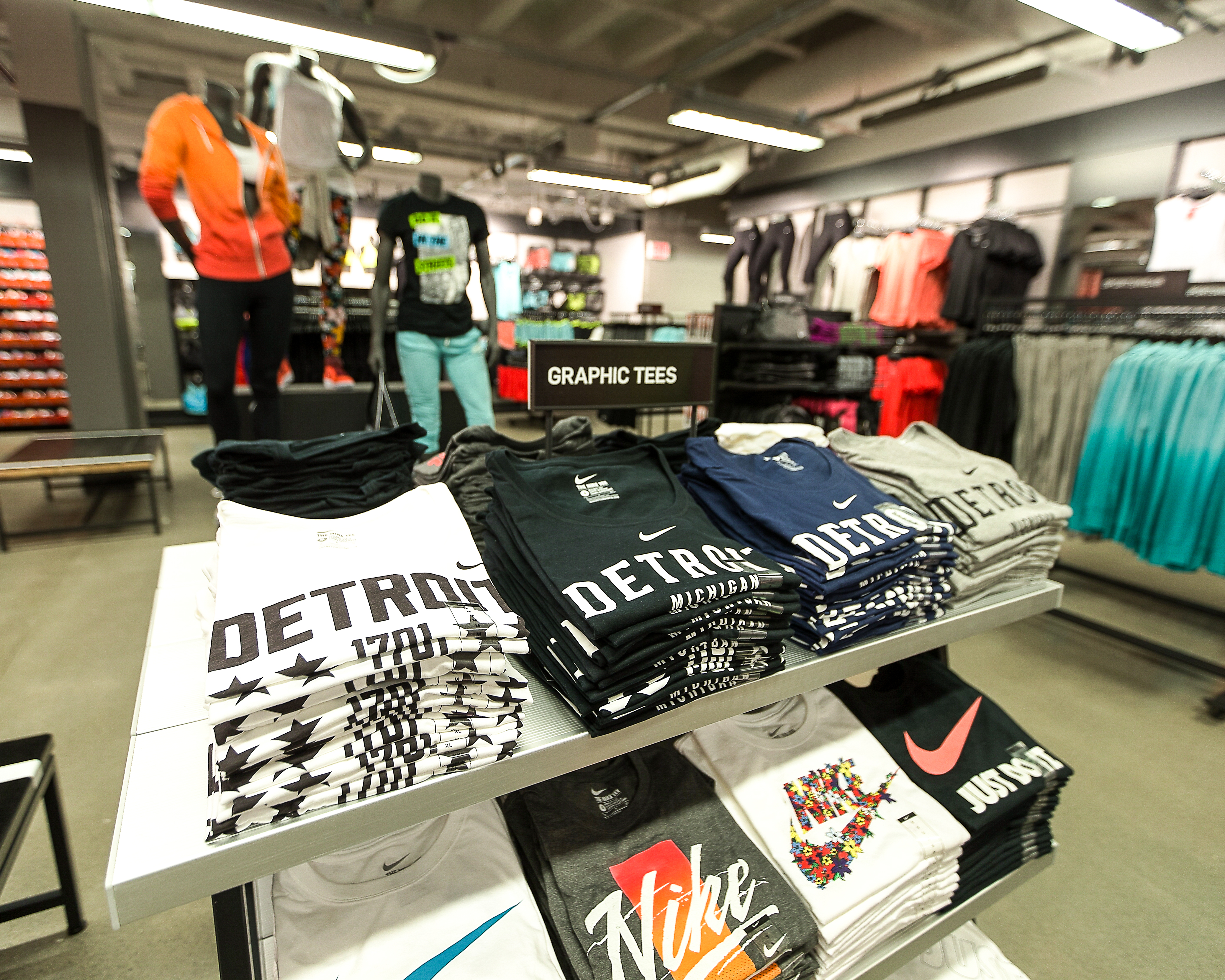 Inside Nike's new Community Store in downtown Detroit.