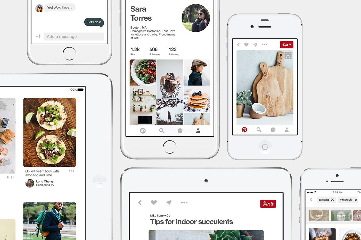 Pinterest's mobile app.