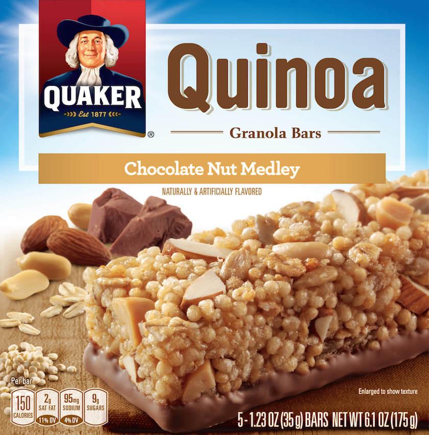 The box for Quaker's granola bars