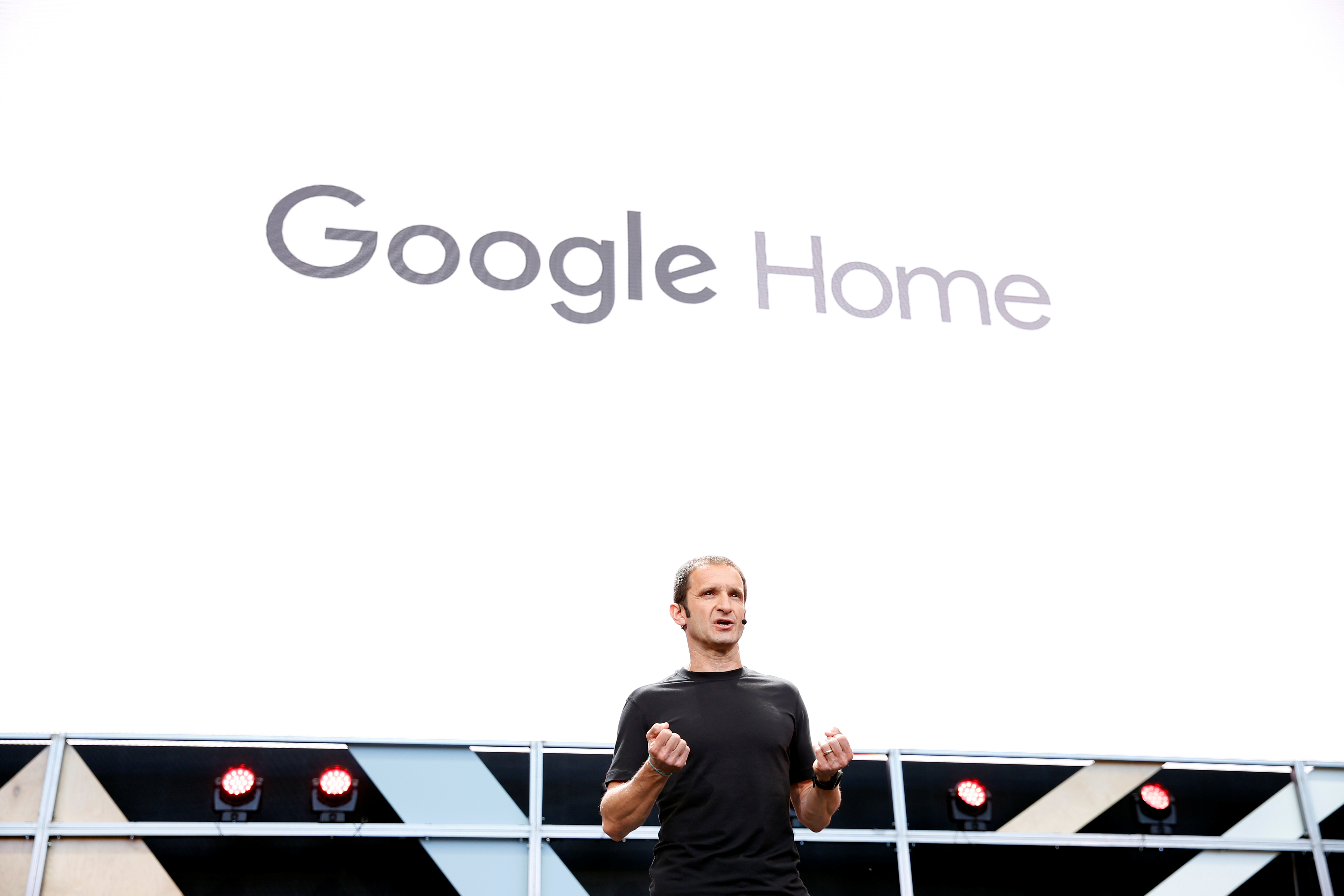 Mario Queiroz introduces Google Home during the Google I/O 2016 I/O 2016 developers conference in Mountain View, California