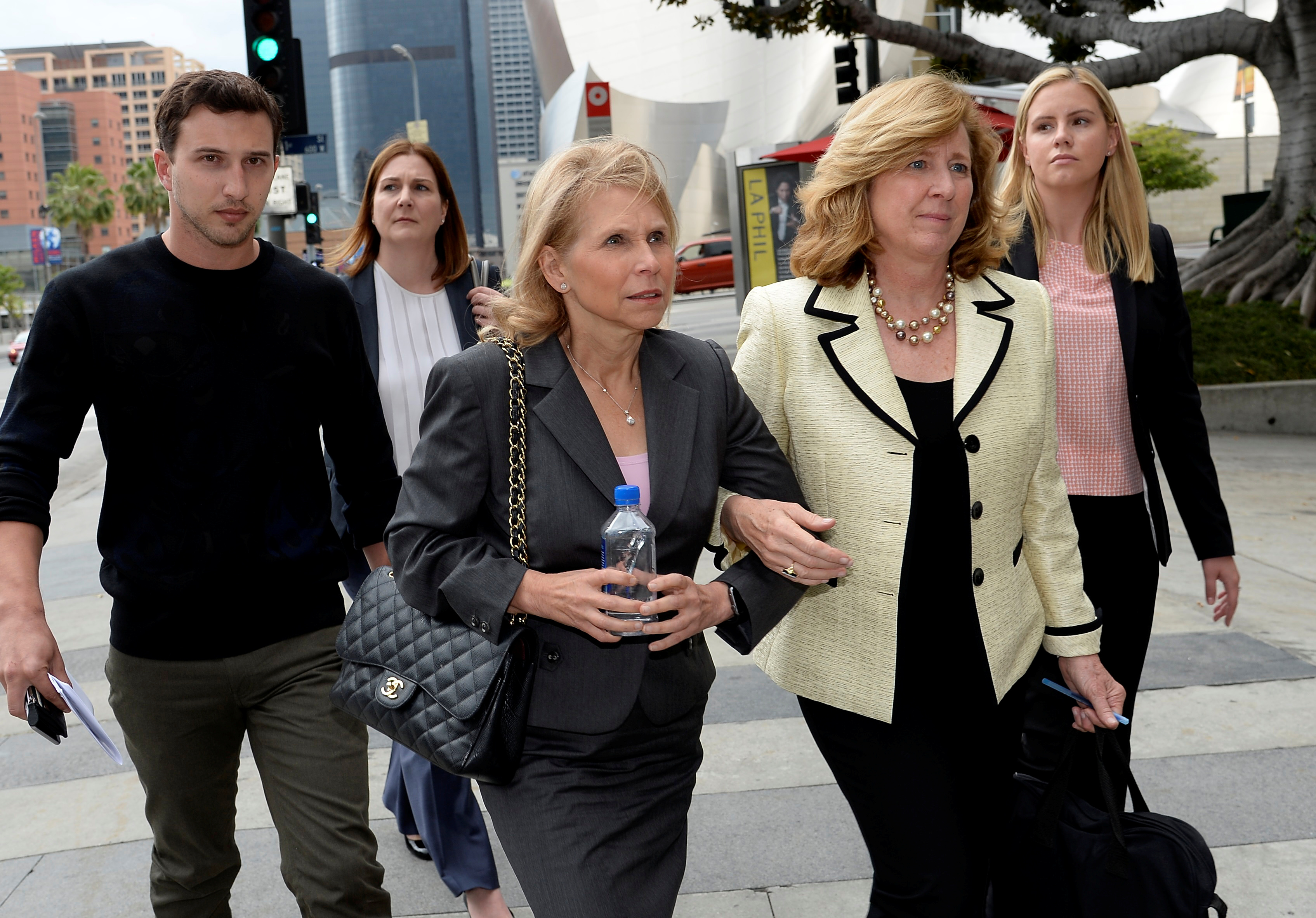 Sumner Redstone's daughter Shari Redstone leaves a downtown courthouse in Los Angeles