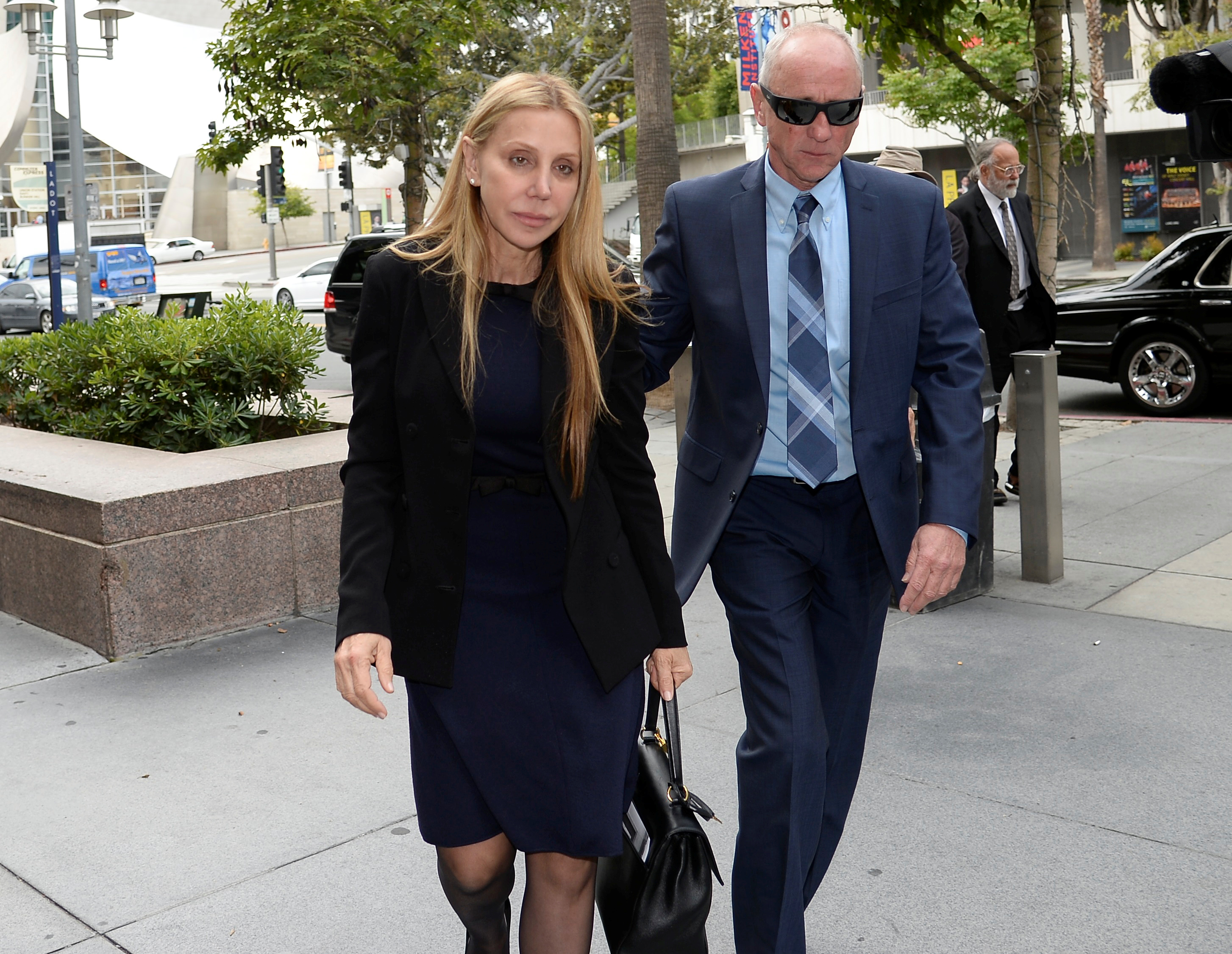 Manuela Herzer, the former girlfriend of Sumner Redstone, heads back into court in Los Angeles