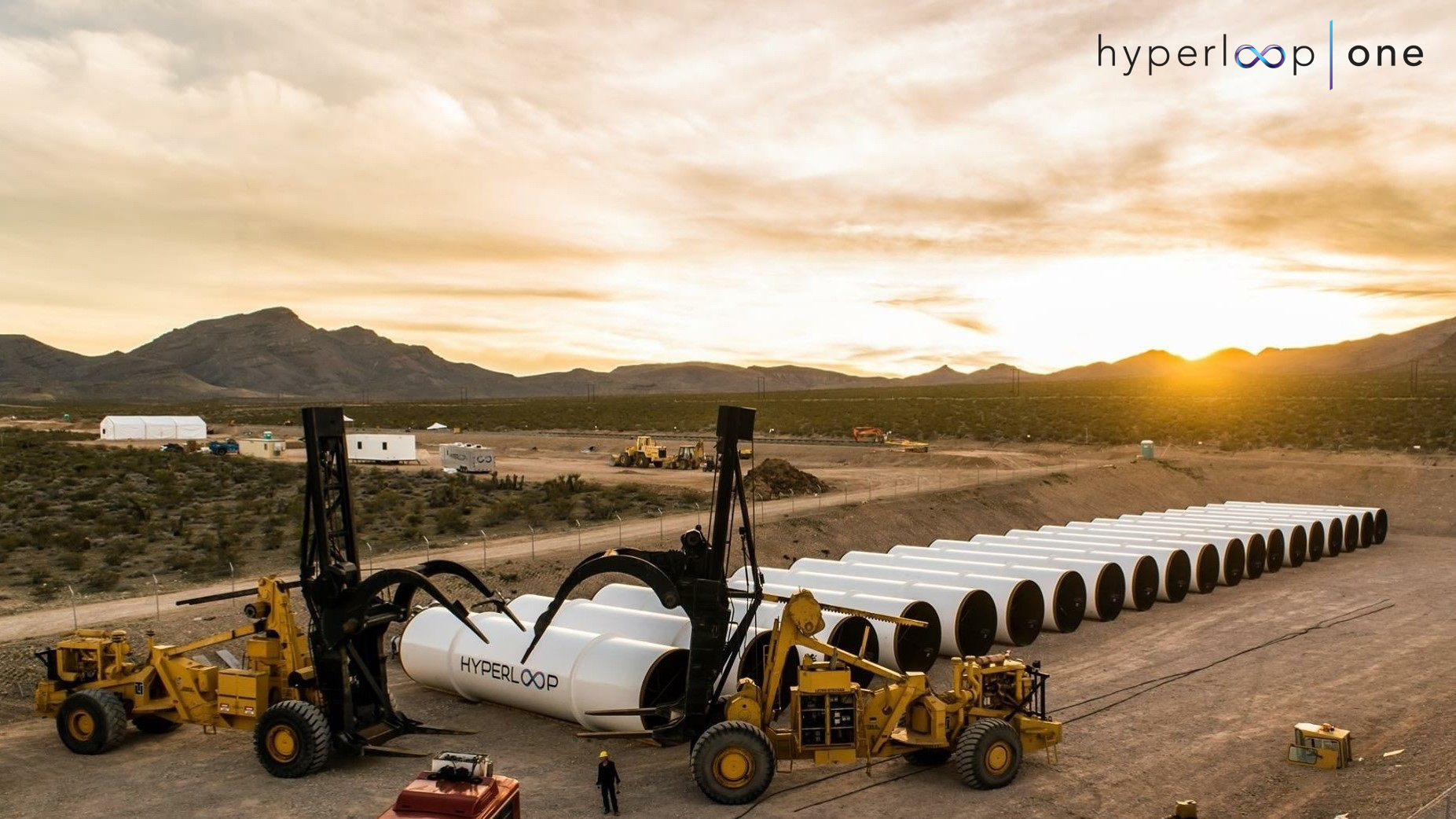 Hyperloop One is building a prototype of its high-speed transport system in Nevada.