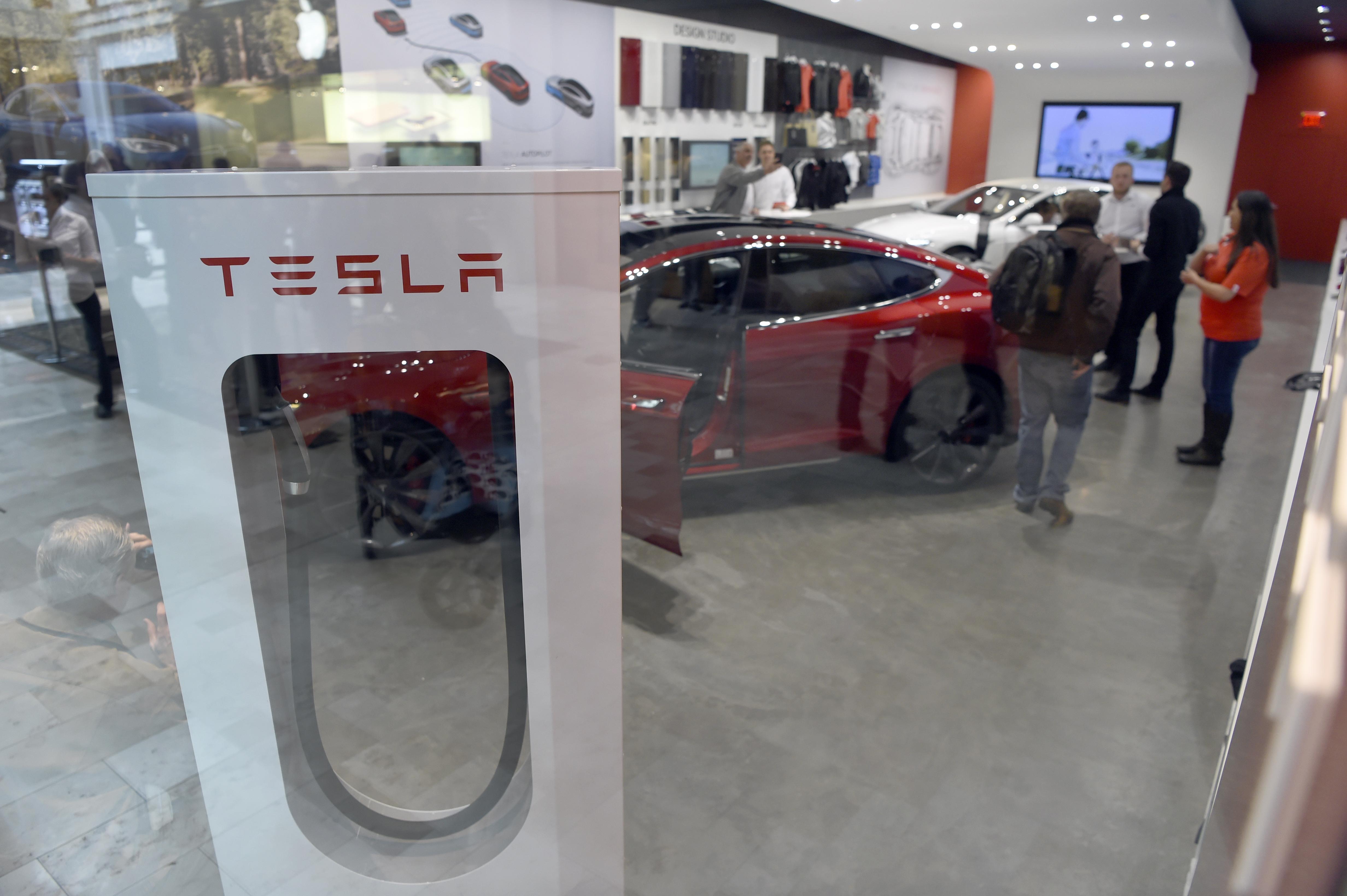 A Tesla show room.