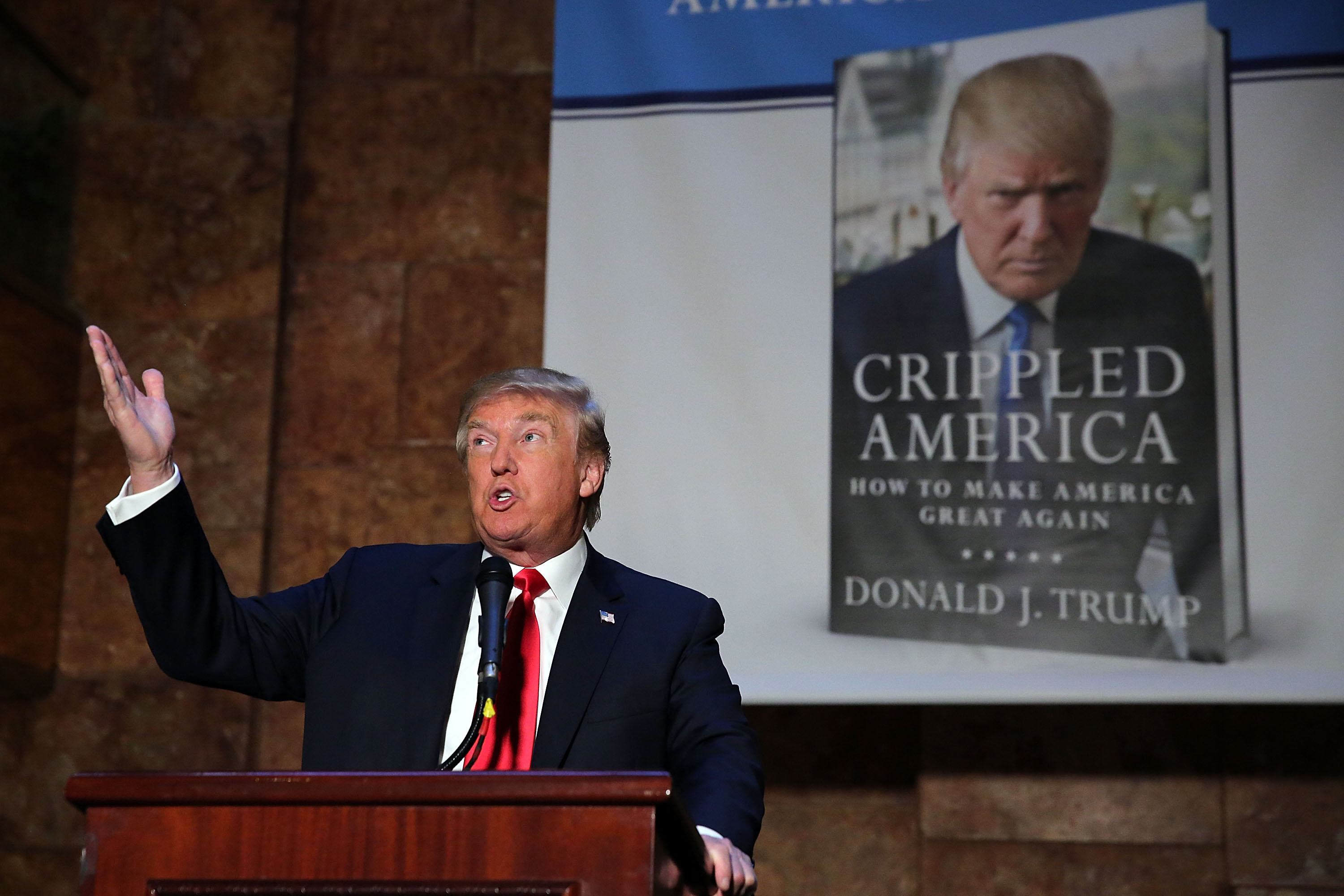 "Donald Trump Holds Press Conference On His New Book ""Crippled America"""